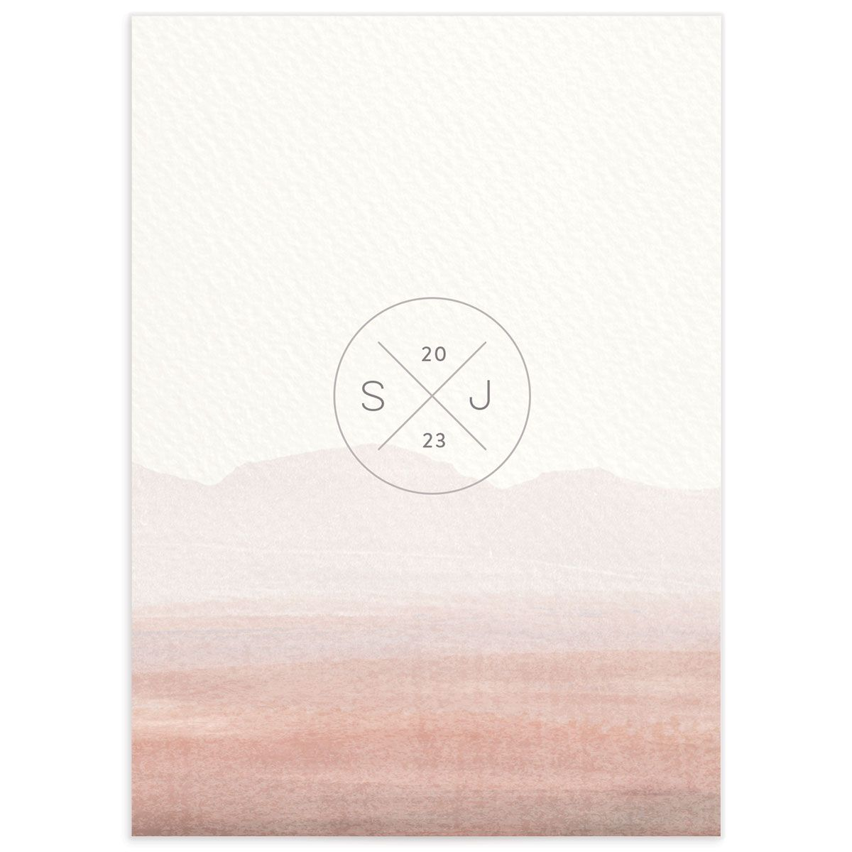 Painted Desert Wedding Response Card Back Pink