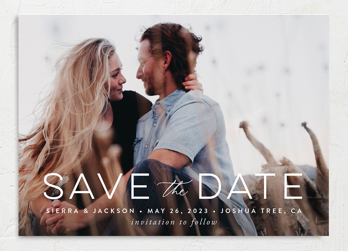 Painted Desert Save the Date Card Front Purple