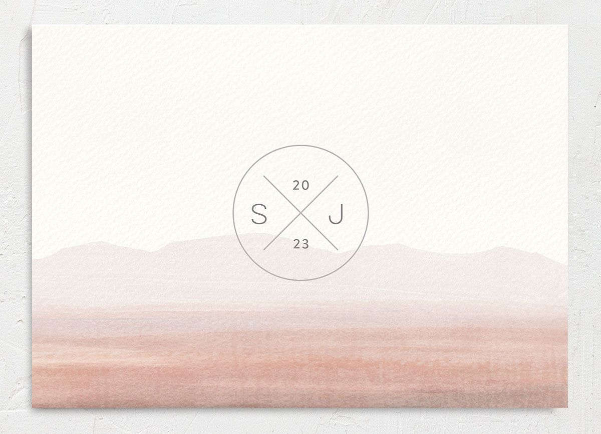 Painted Desert Save the Date Card Back Pink
