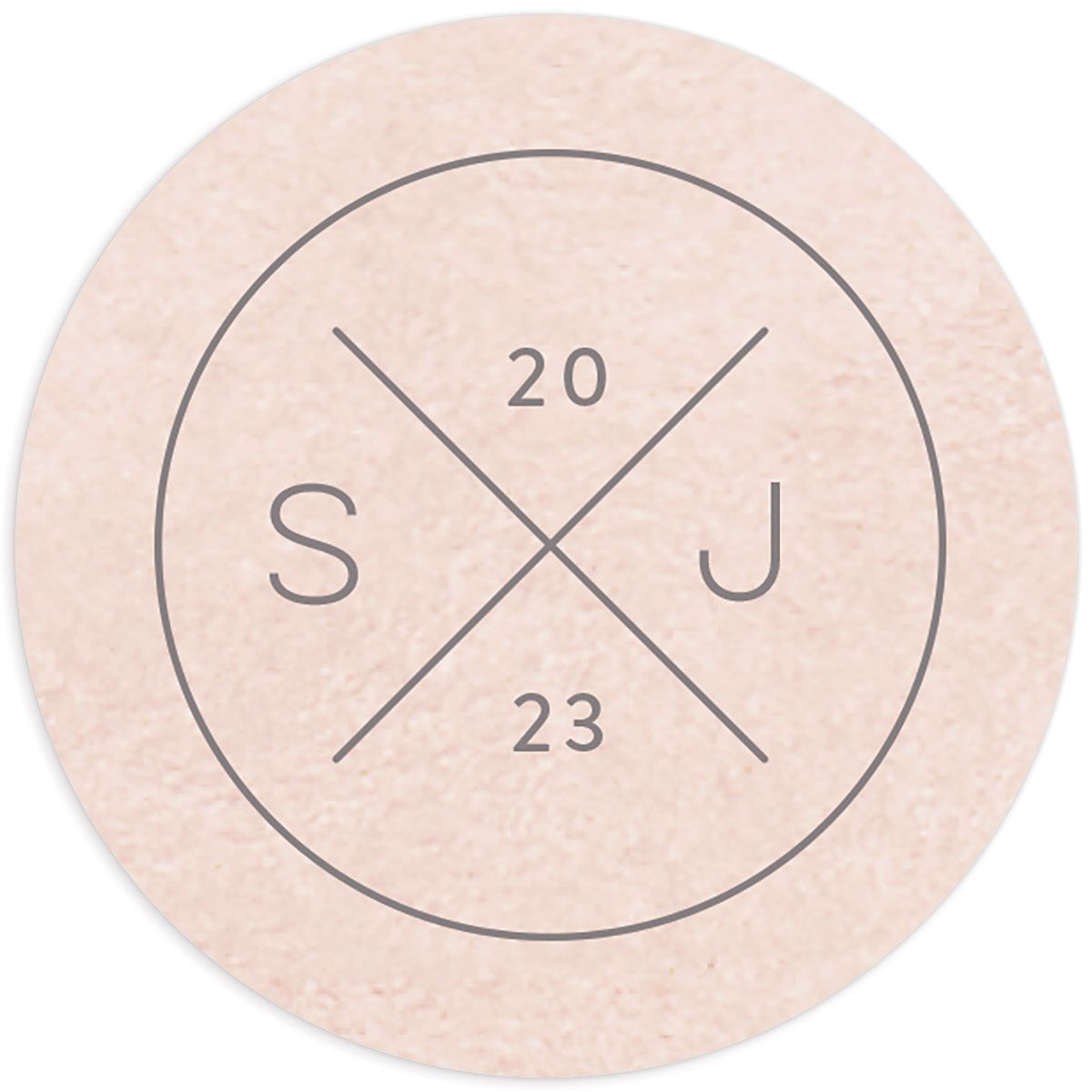 Painted Desert Wedding Round Sticker Front Pink