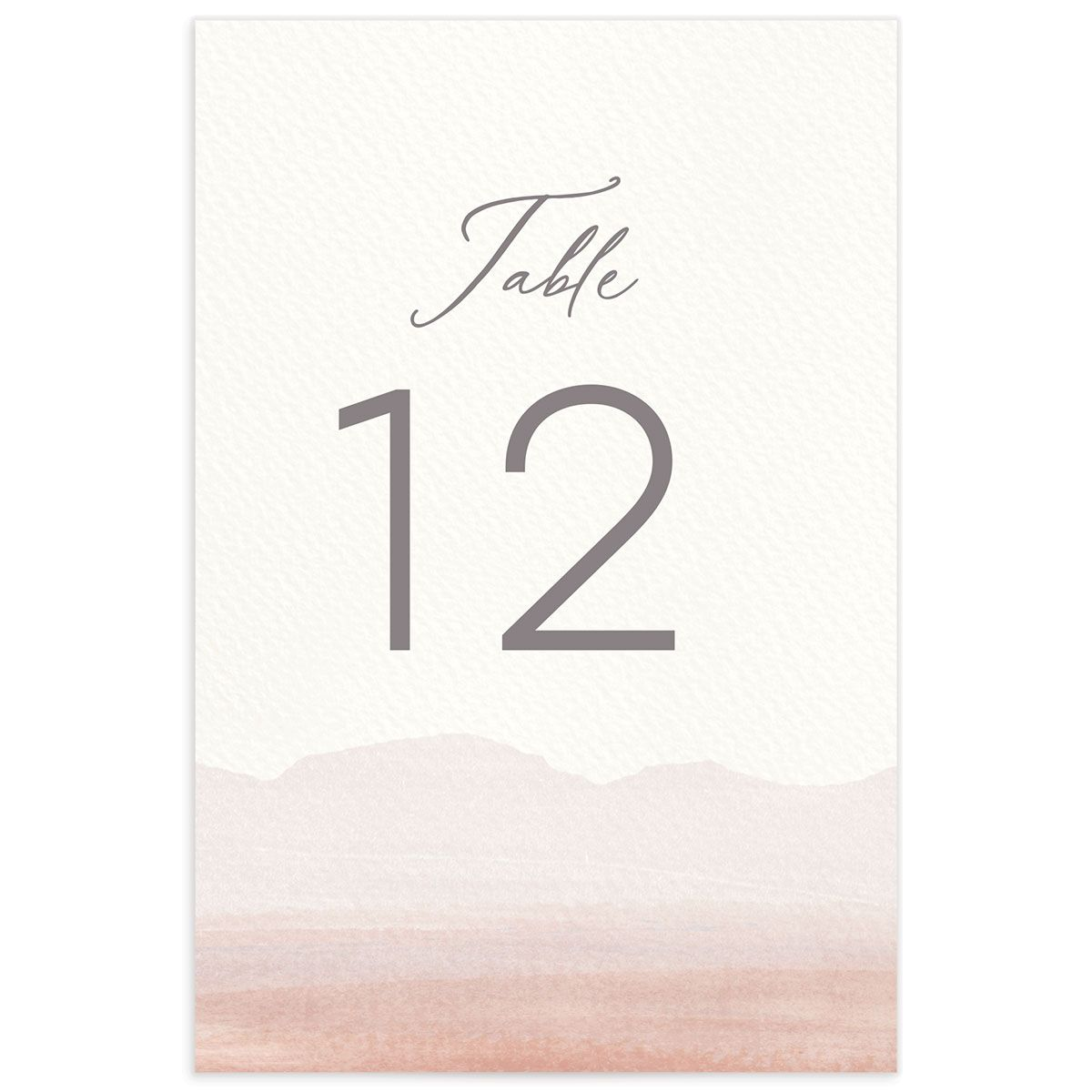 Painted Desert Wedding Table Numbers Back Pink