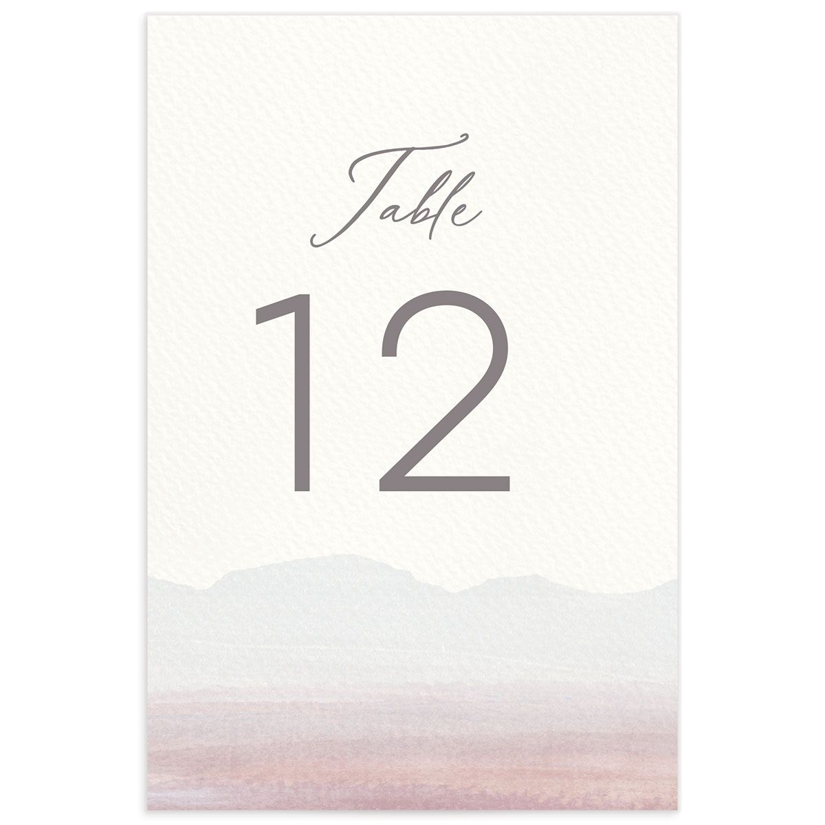 Painted Desert Wedding Table Numbers Back Purple