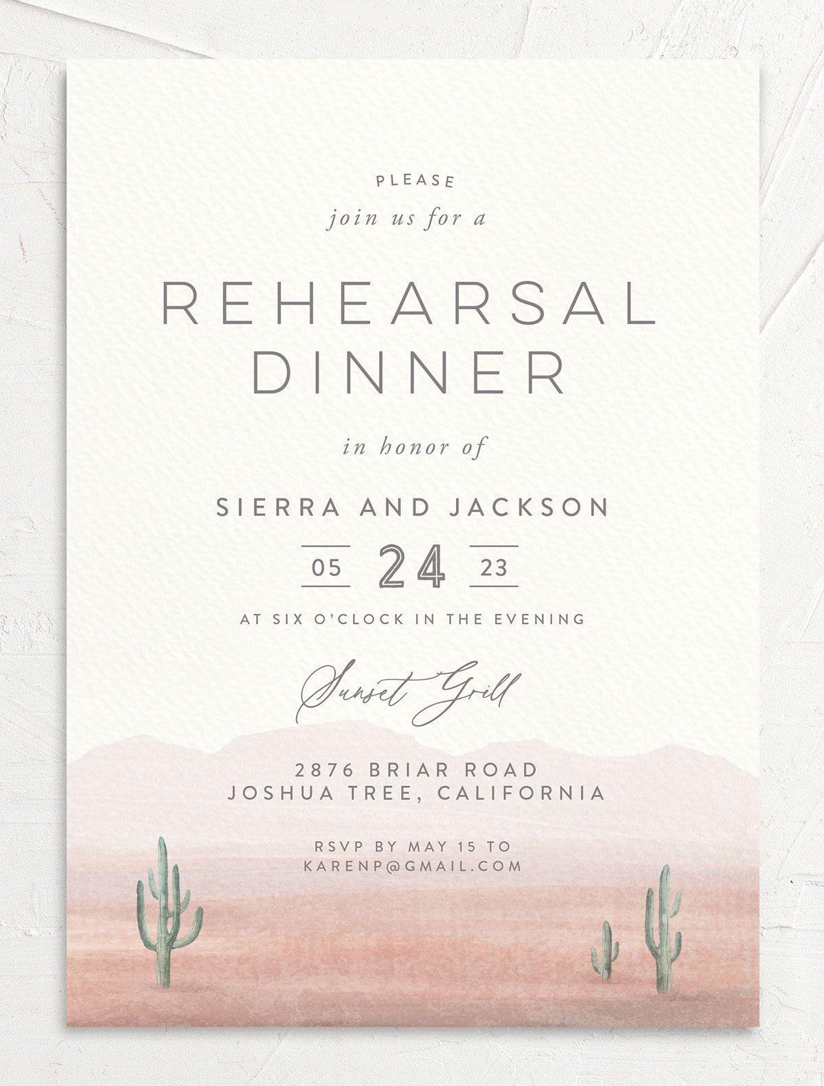 Painted Desert Rehearsal Dinner Invitations | The Knot