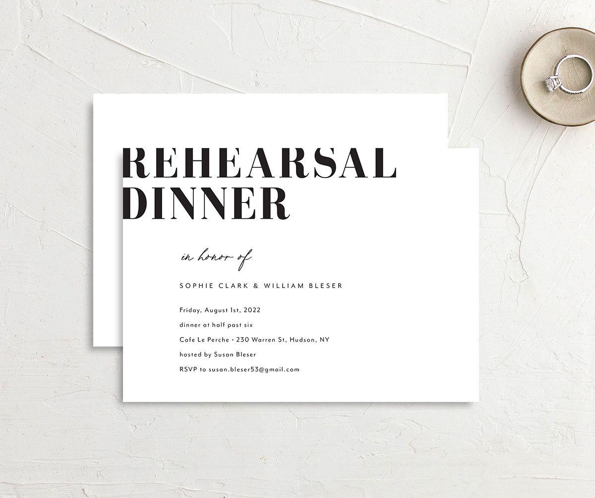 Modern Bodoni Rehearsal Dinner Invitations | elli