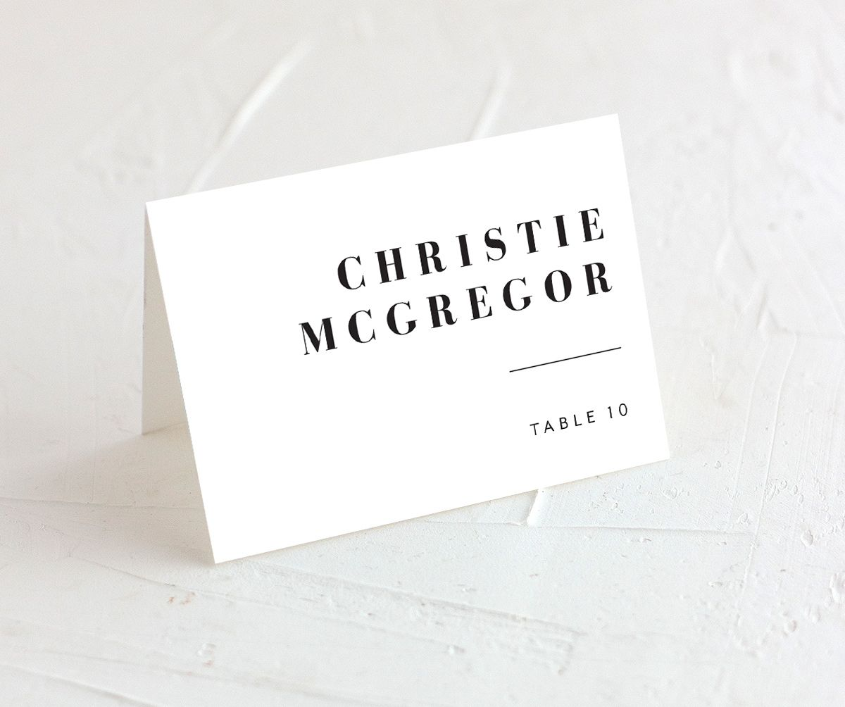 Modern Bodoni place card