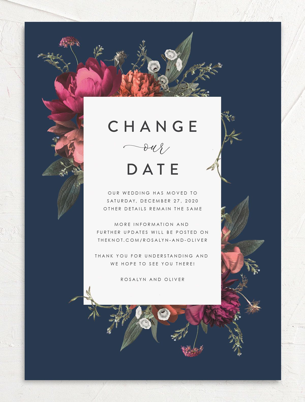 Blooming Botanical change the date front blue