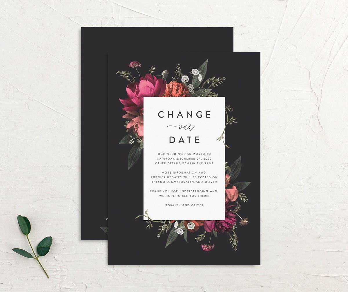 Blooming Botanical change the date front and back black