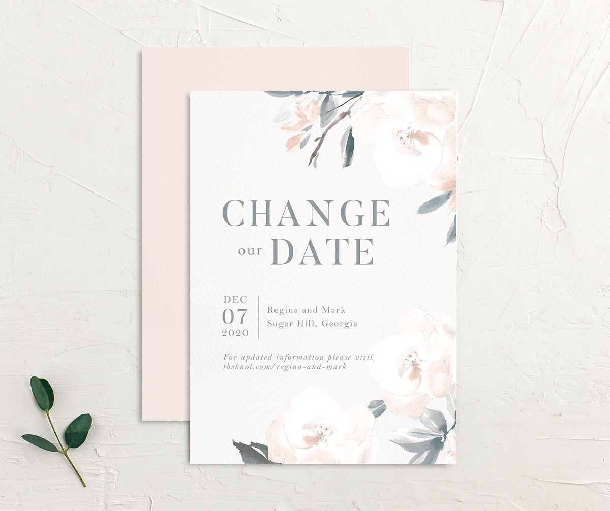 Elegant Garden change the date card front and back blue