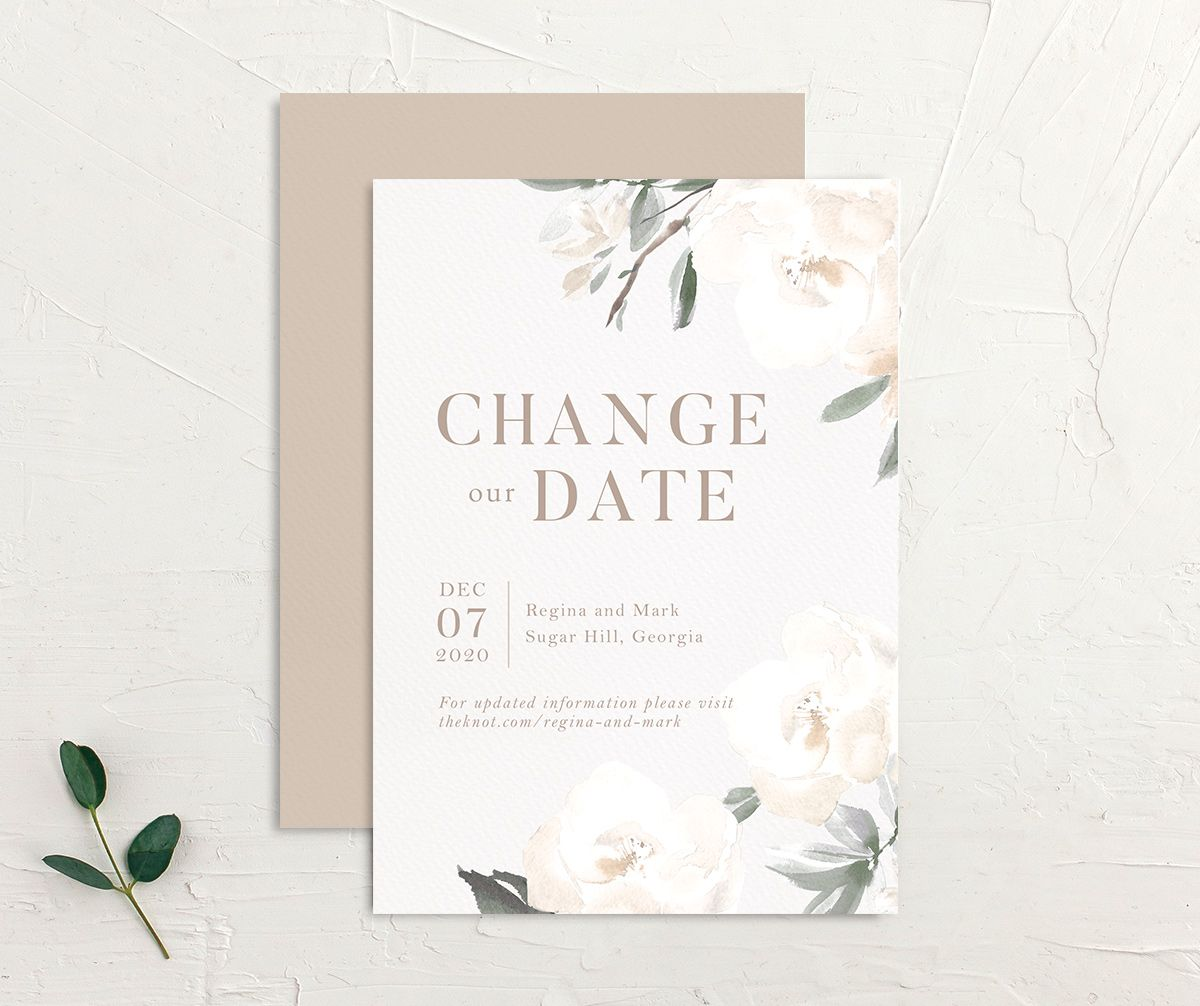 Elegant Garden change the date card front and back green