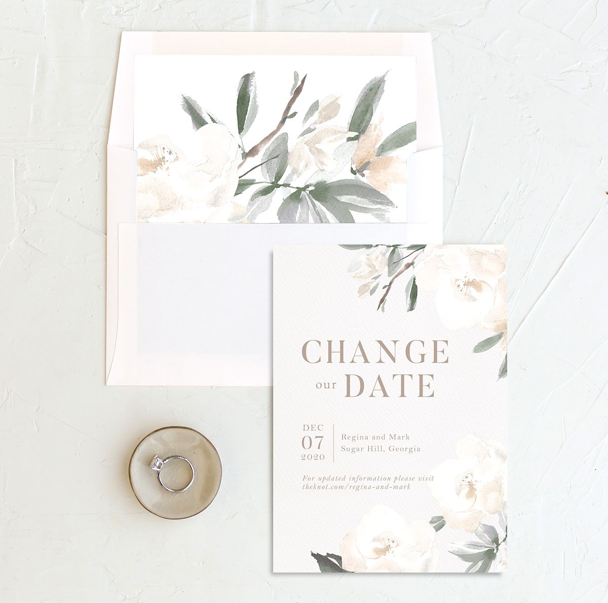 Elegant Garden change the date card with liner green