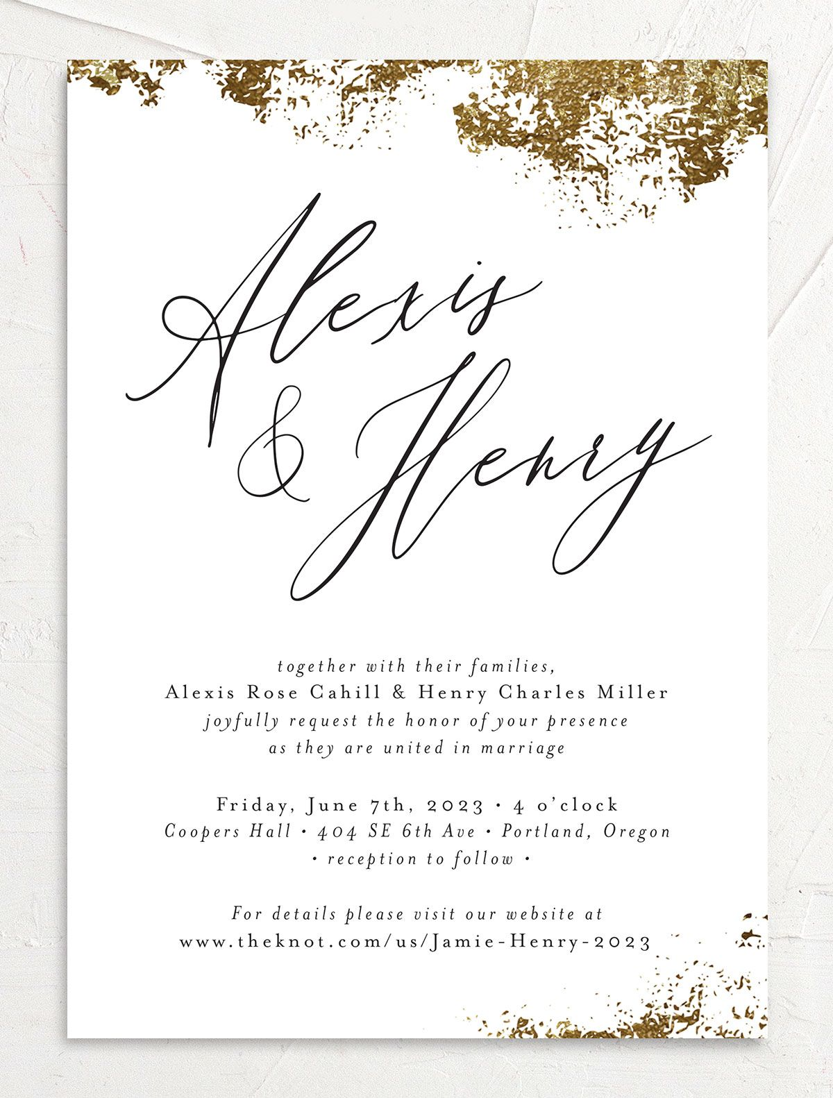 Elegant Organic wedding invitation front