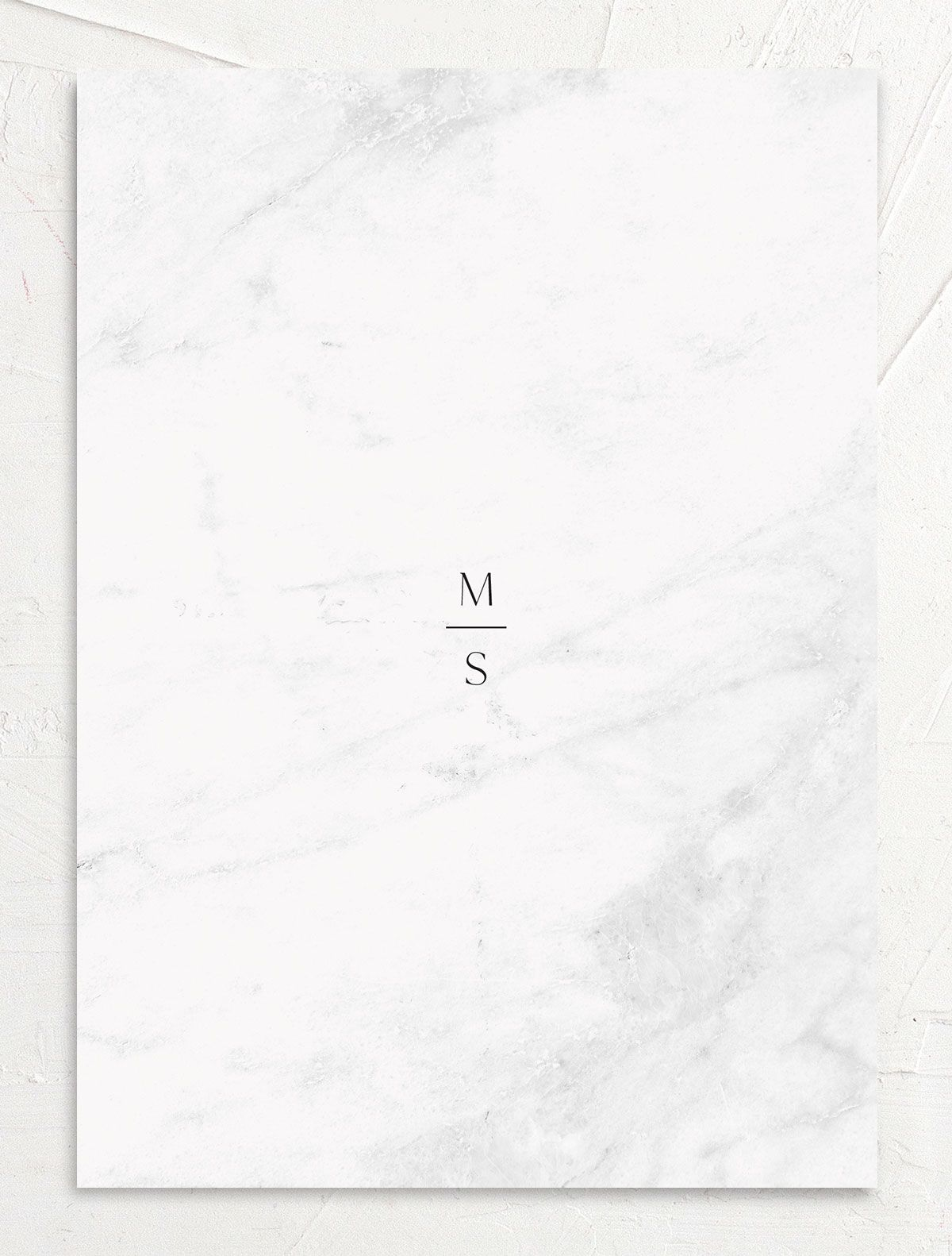 Geometric Marble Wedding Invitation back