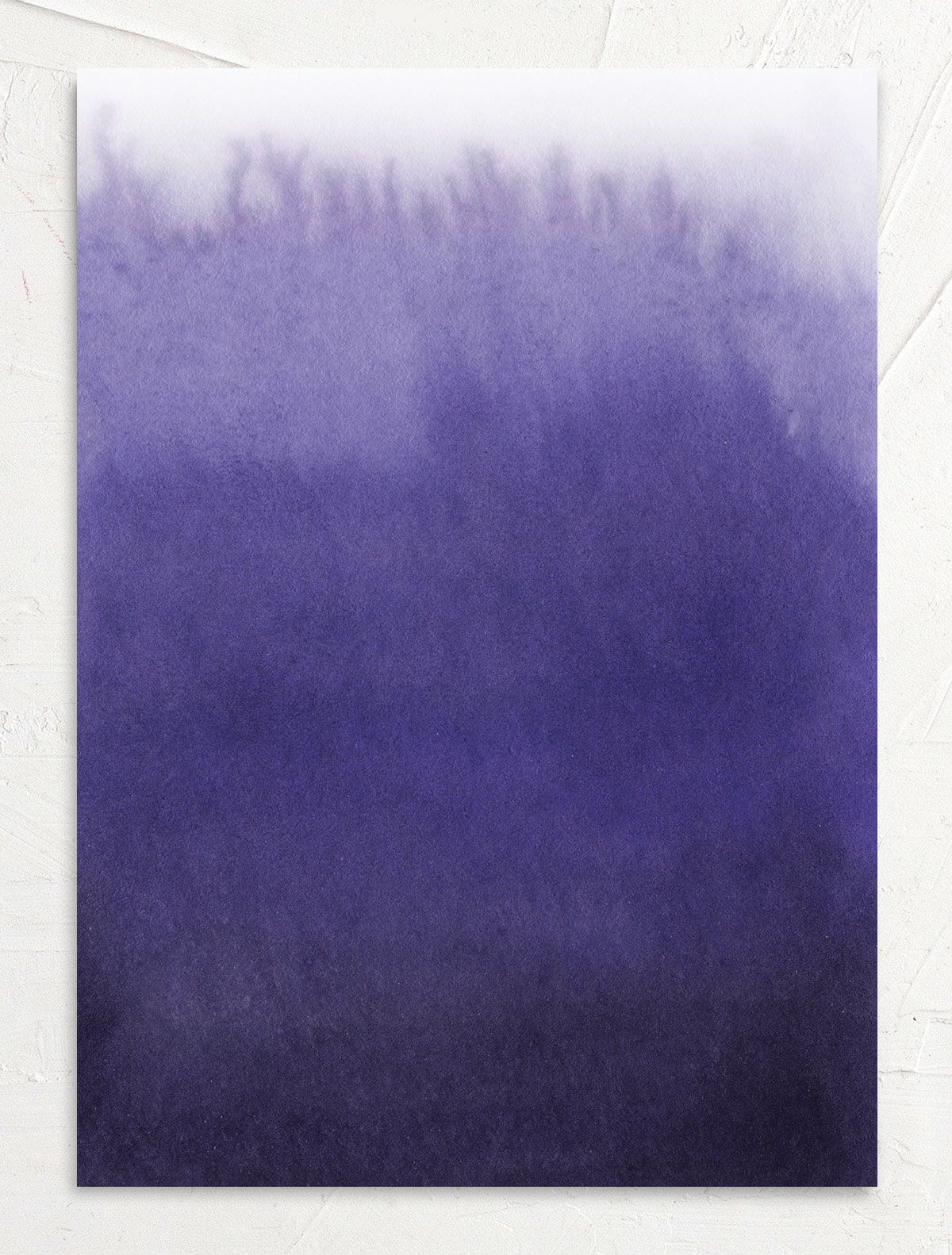 Painted Ethereal Wedding Invitation back purple