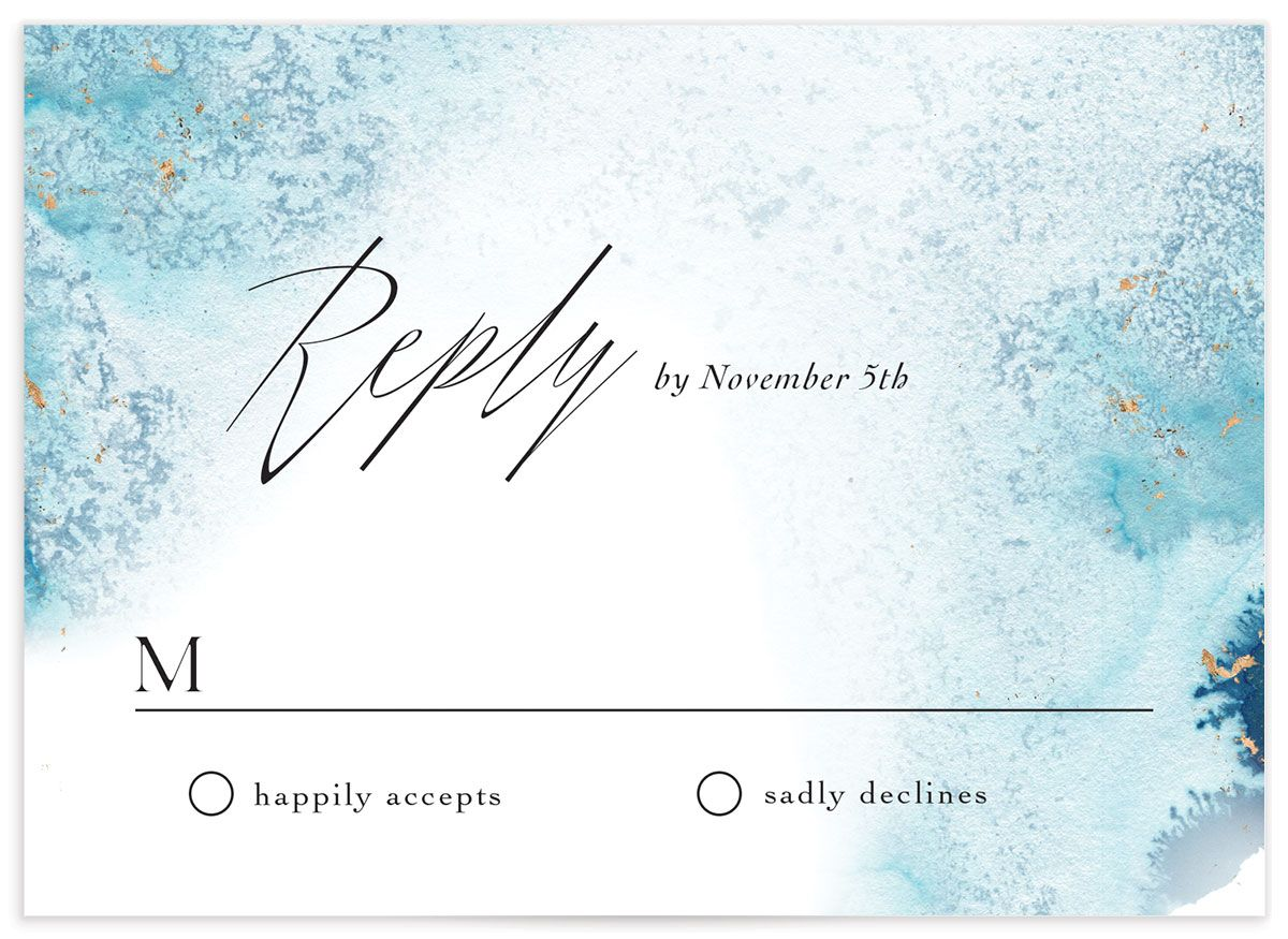 Painted Ethereal Response Card front blue