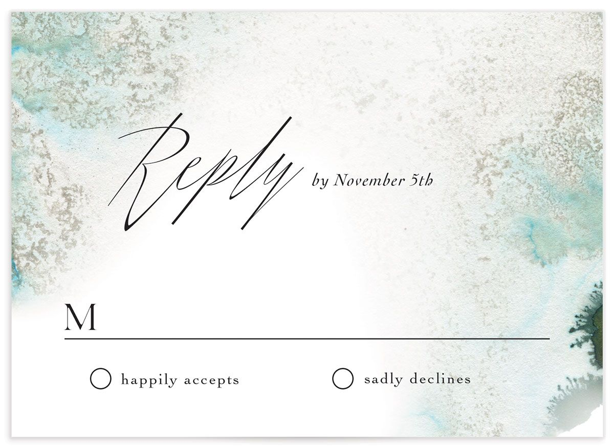 Painted Ethereal Response Card front green