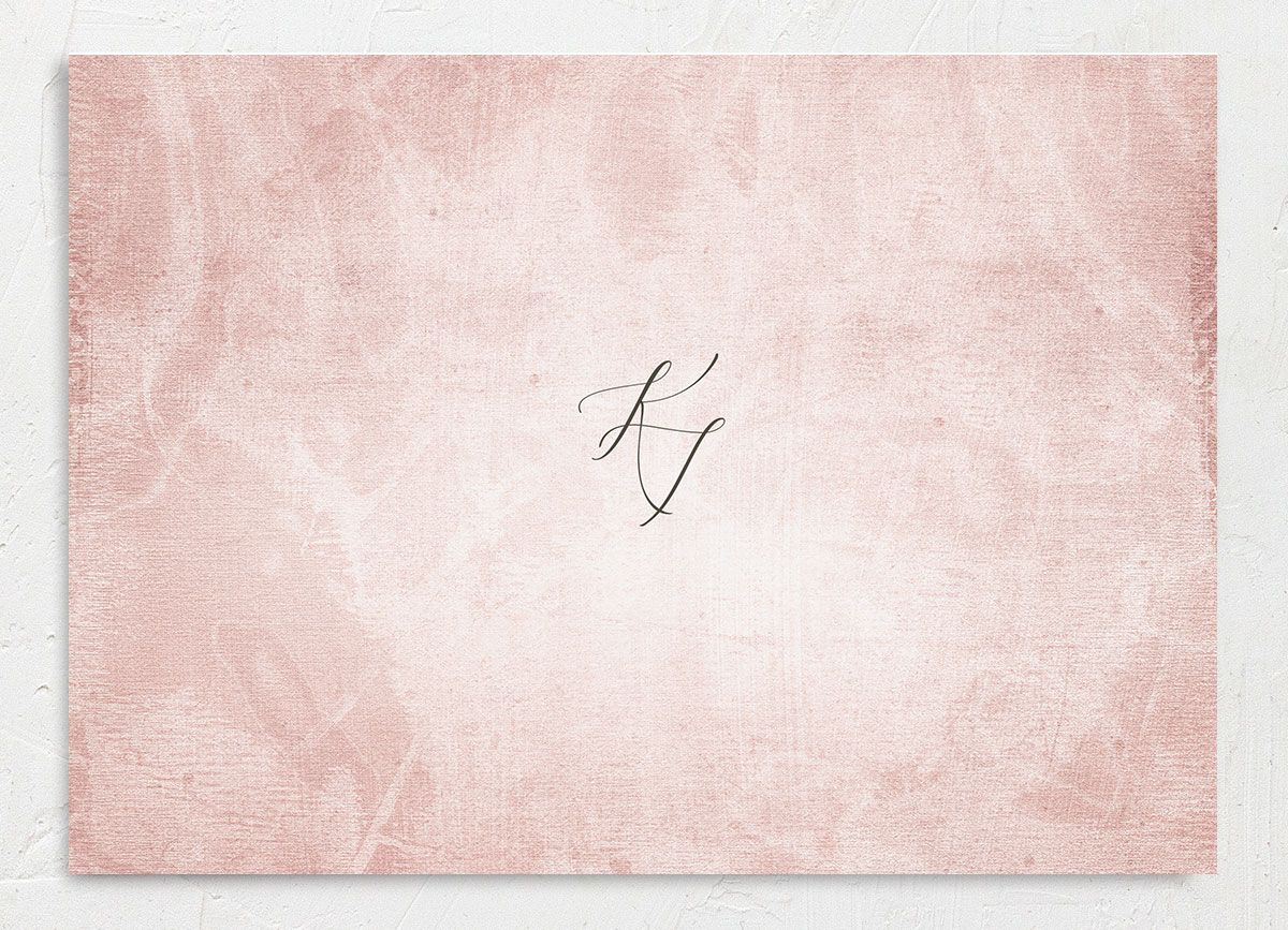 Muted Floral Wedding Save the Date Card back pink