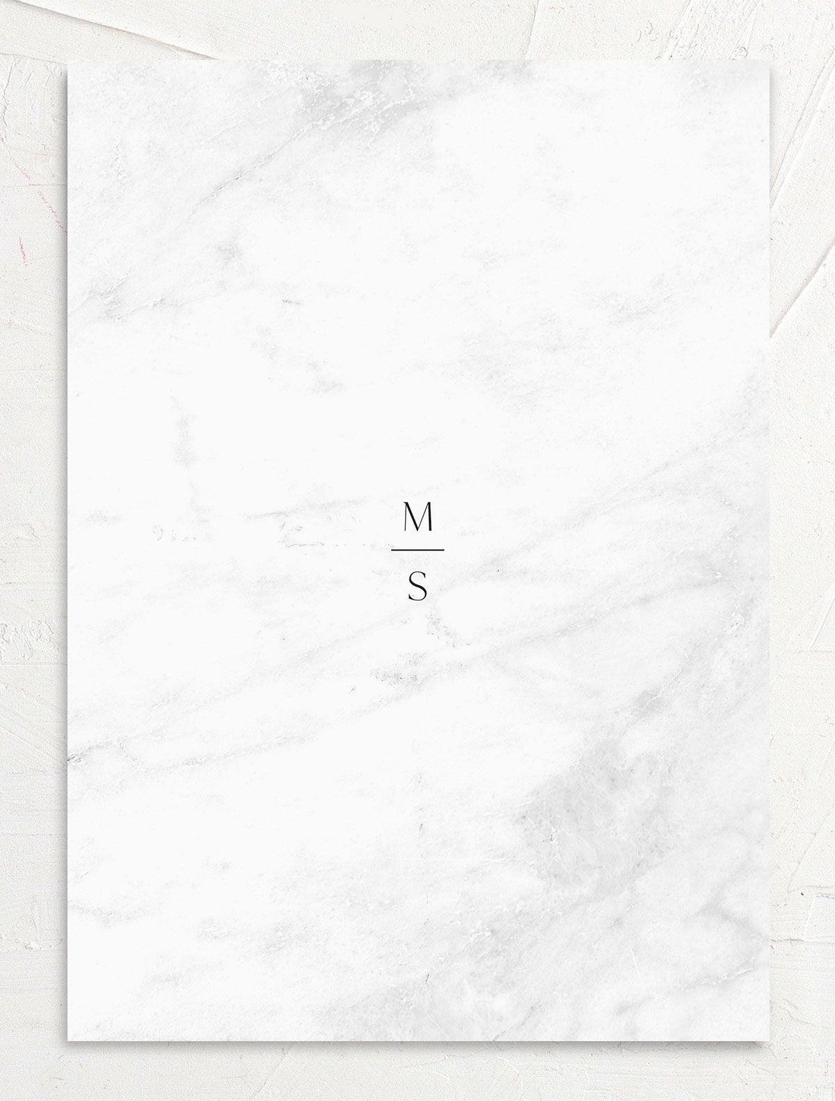 Geometric Marble Wedding Save the Date back