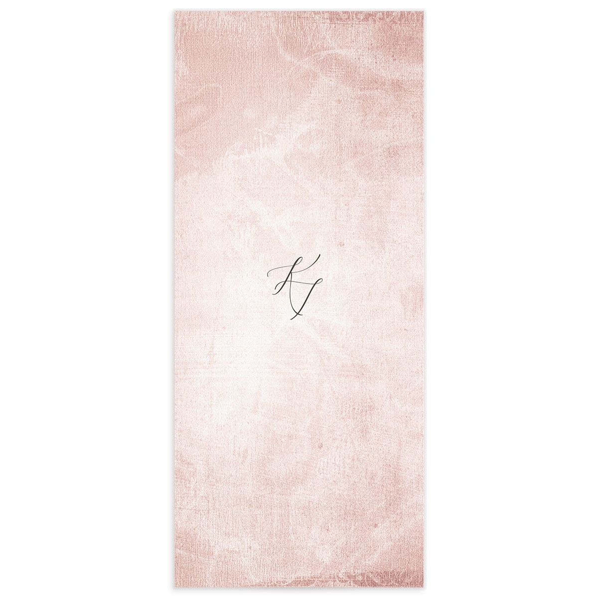 Muted Floral Wedding Menu Card back pink