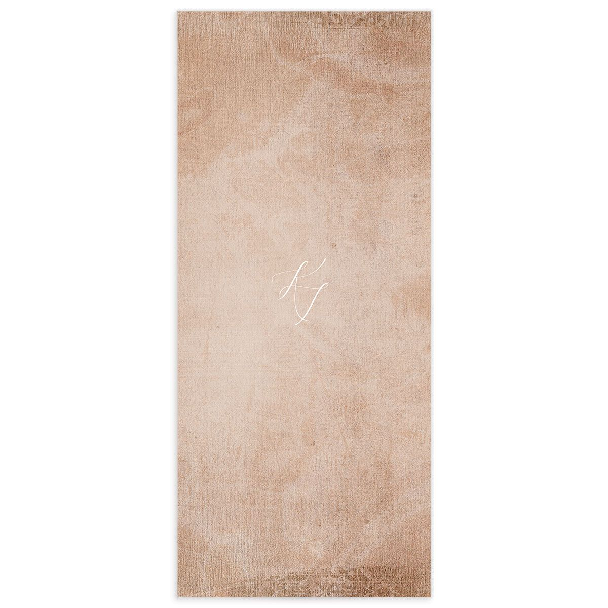Muted Floral Wedding Menu Card back copper