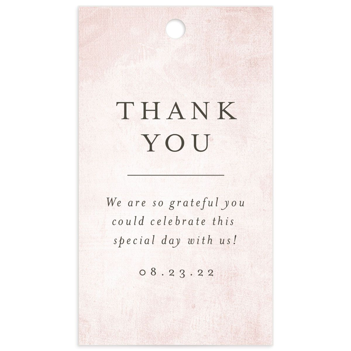 Muted Floral Wedding Gift Tag back pink