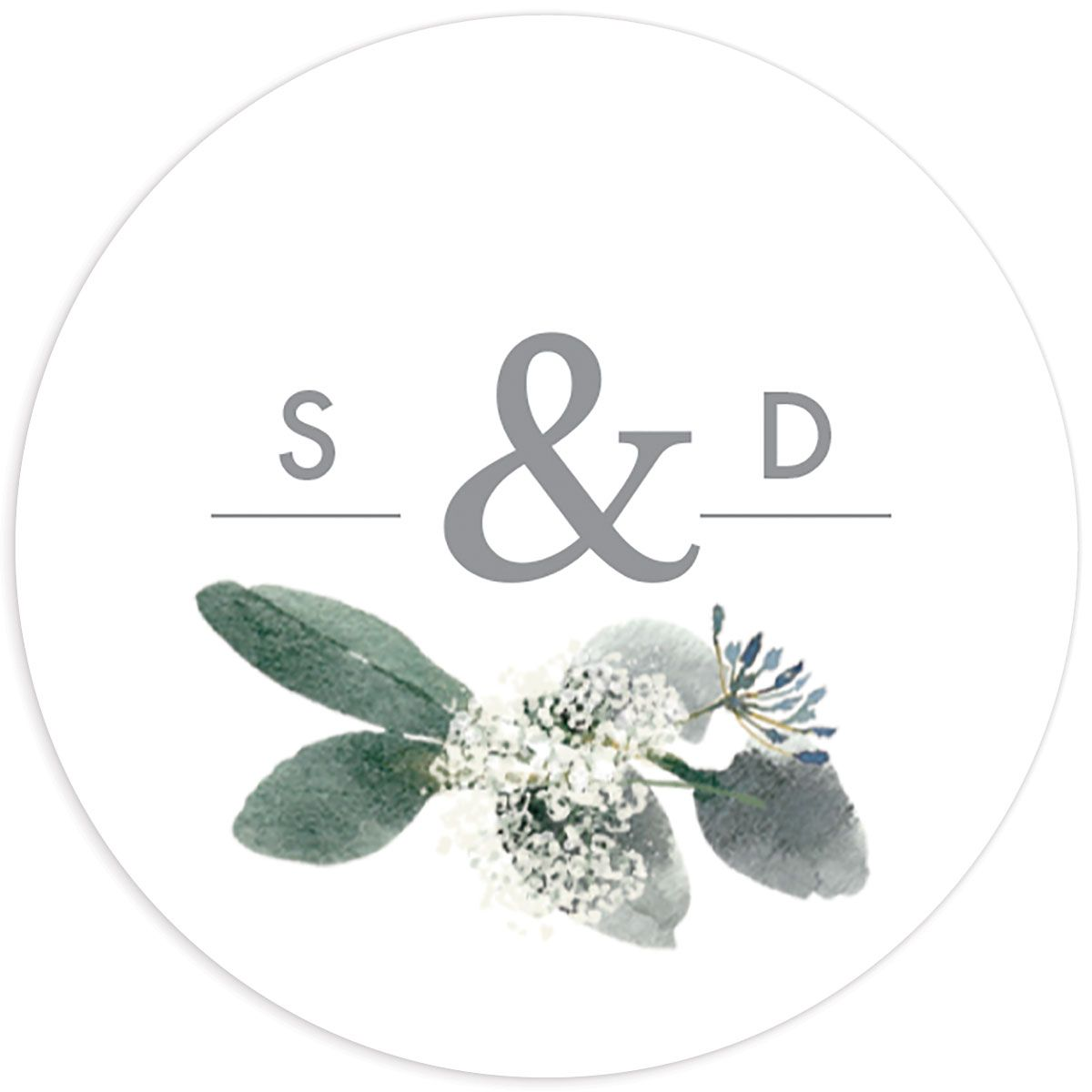 Elegant Greenery sticker