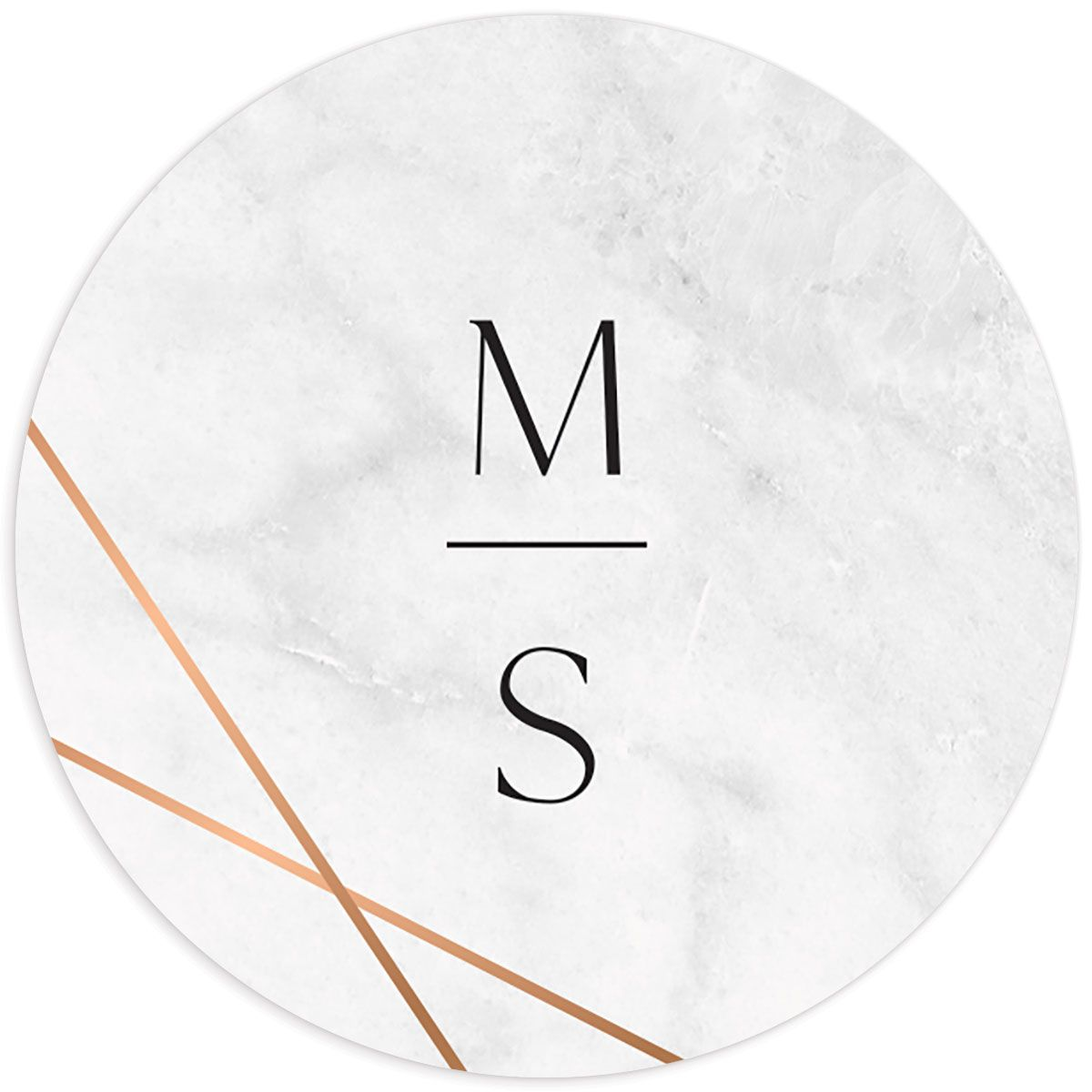 Geometric Marble Wedding sticker front