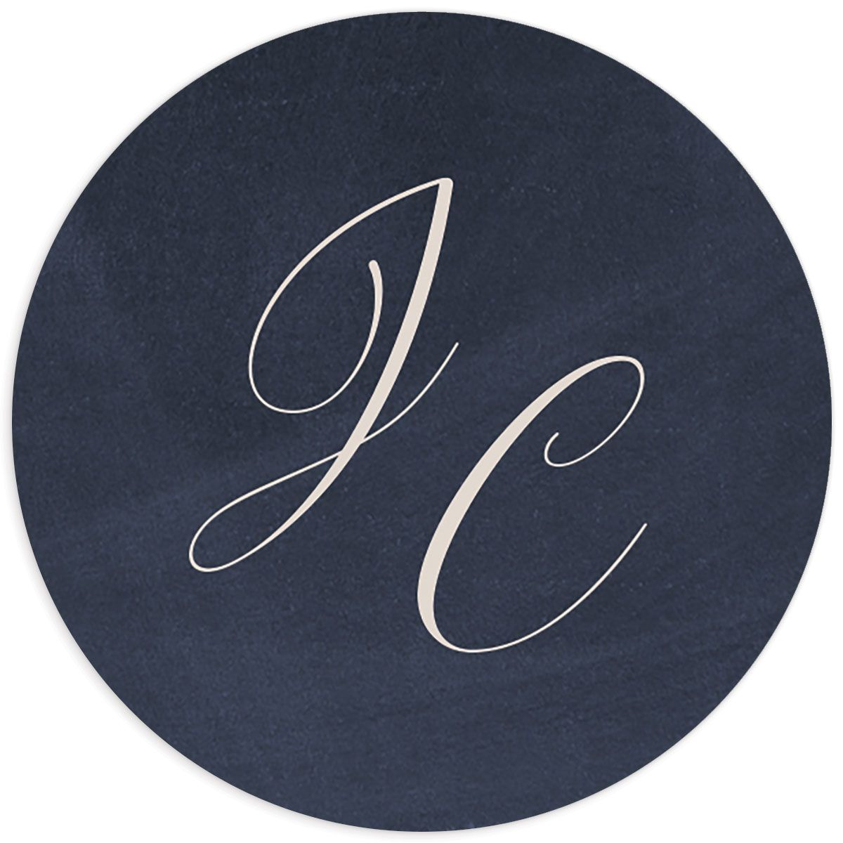 Vintage Luxe Round Sticker Blue