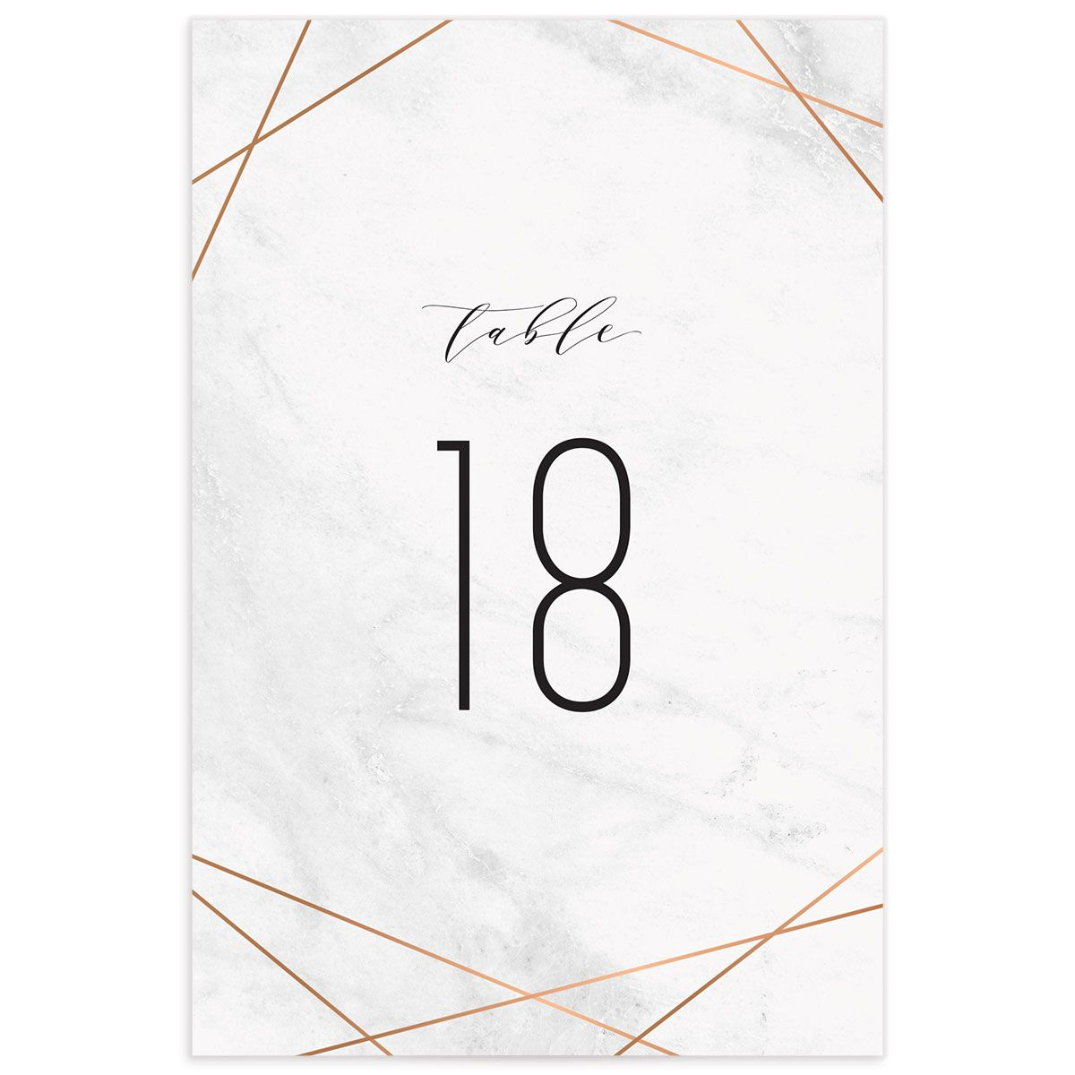 Geometric Marble table number front