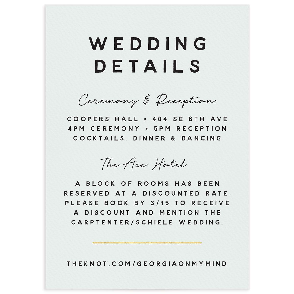 Painted Greenery Wedding Enclosure Card front white
