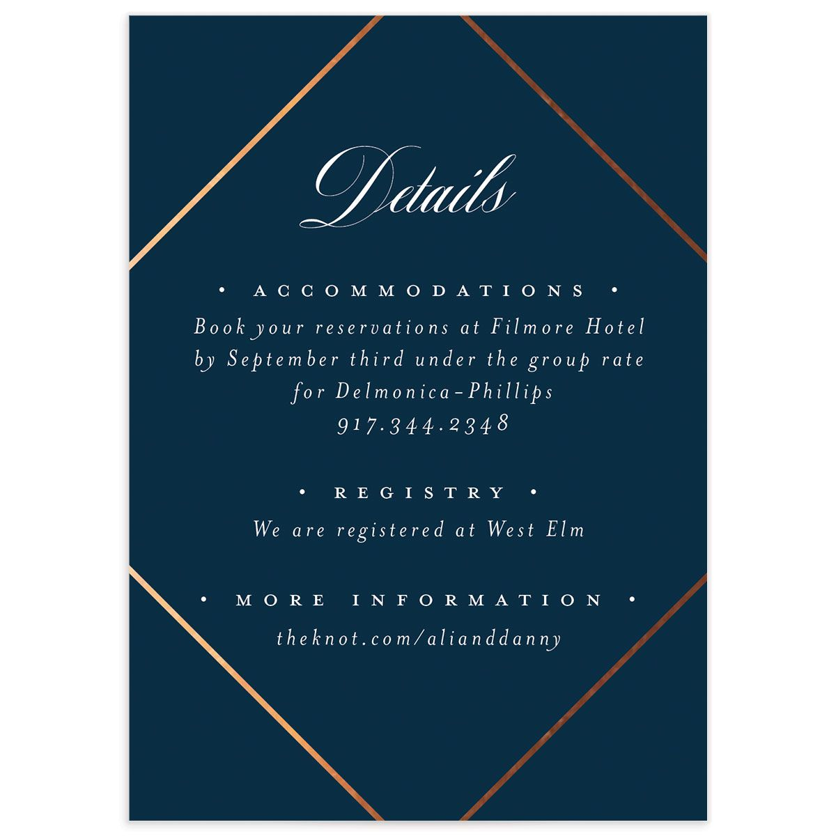 Formal Ampersand Enclosure Card front blue