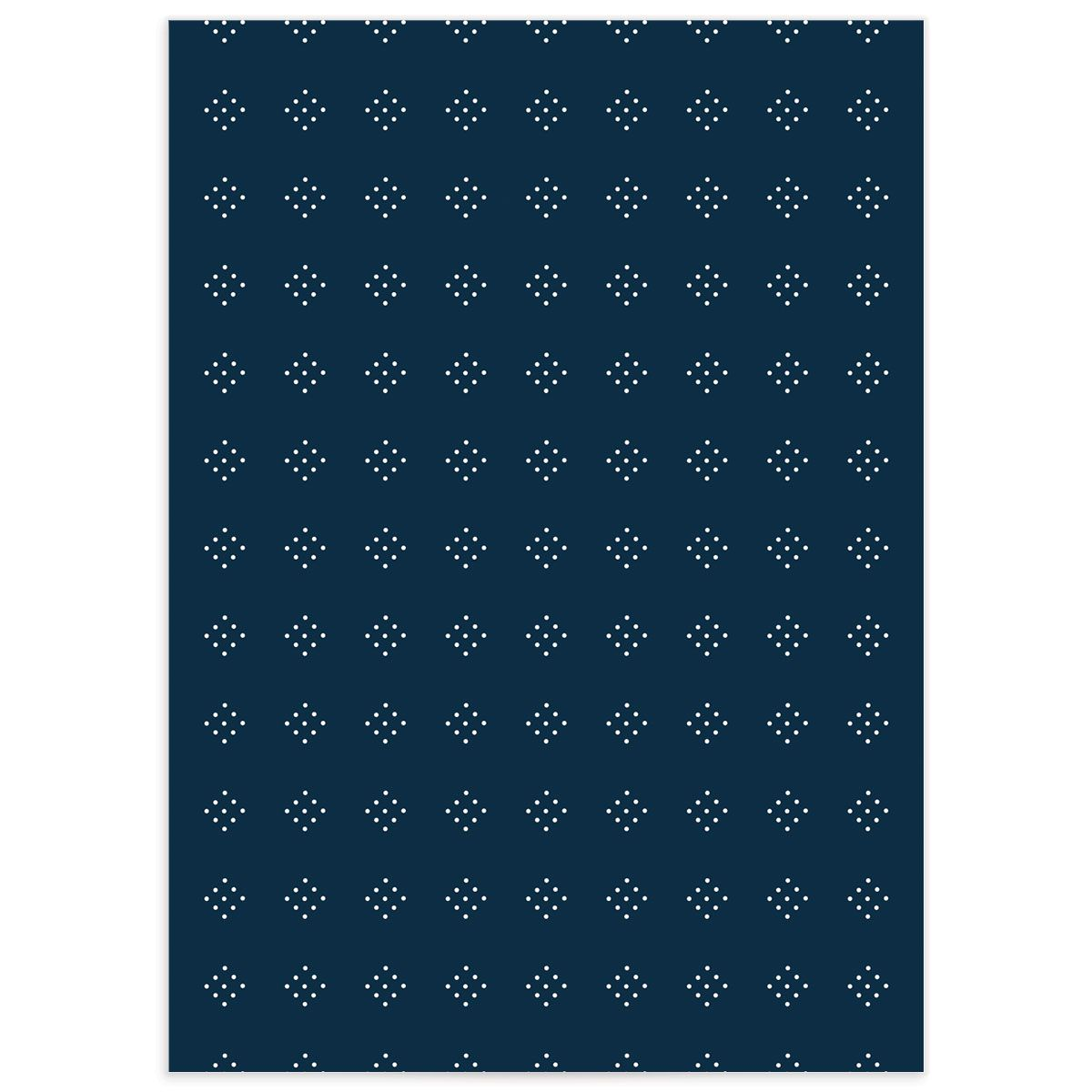 Formal Ampersand Enclosure Card back navy