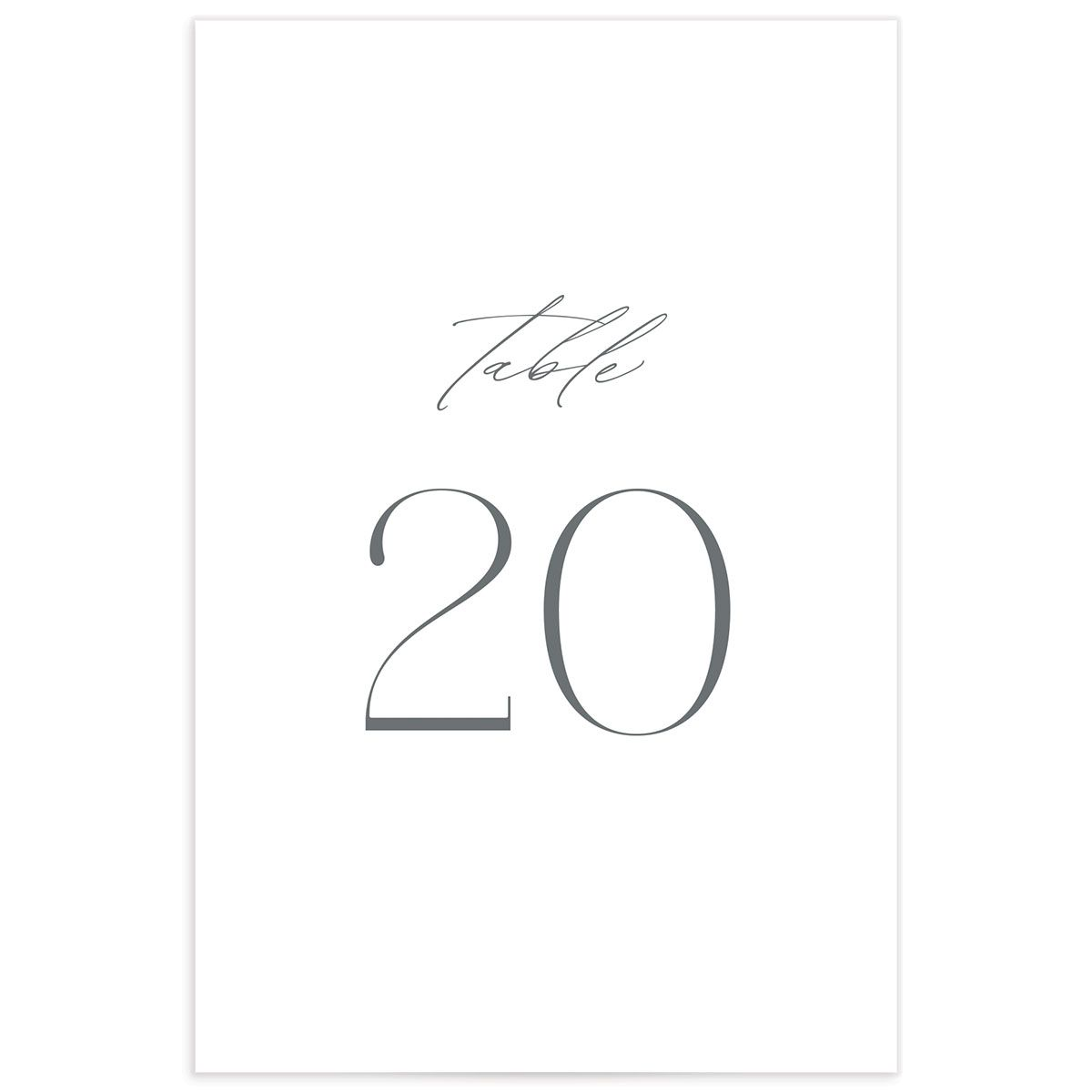Classic Landscape table number estate grey