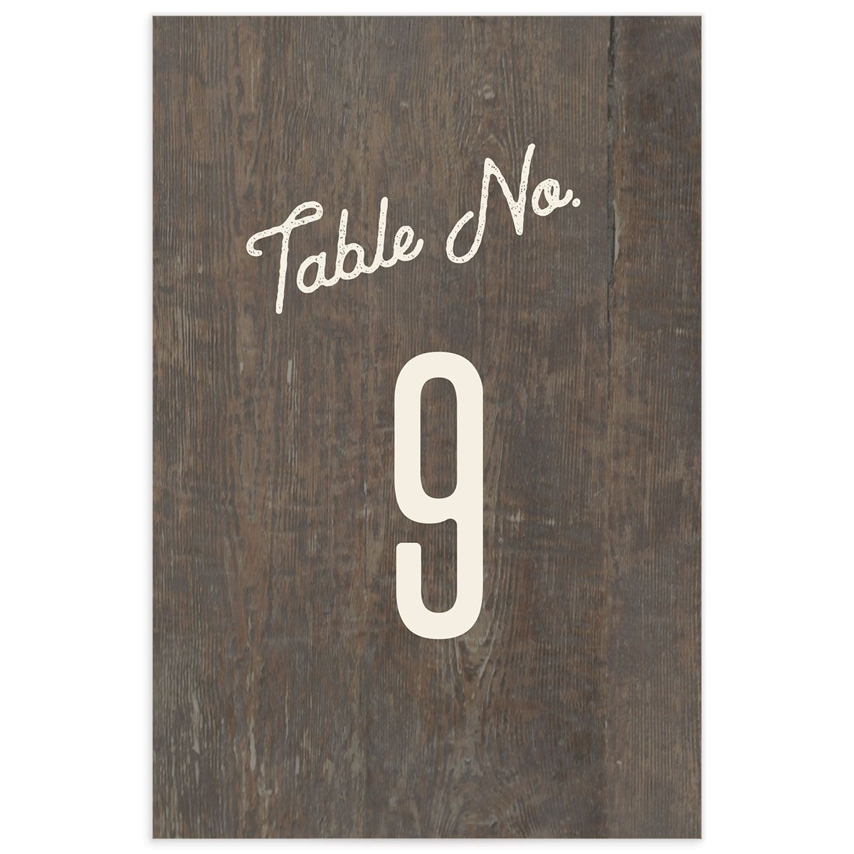 Custom State Wedding Table Number front