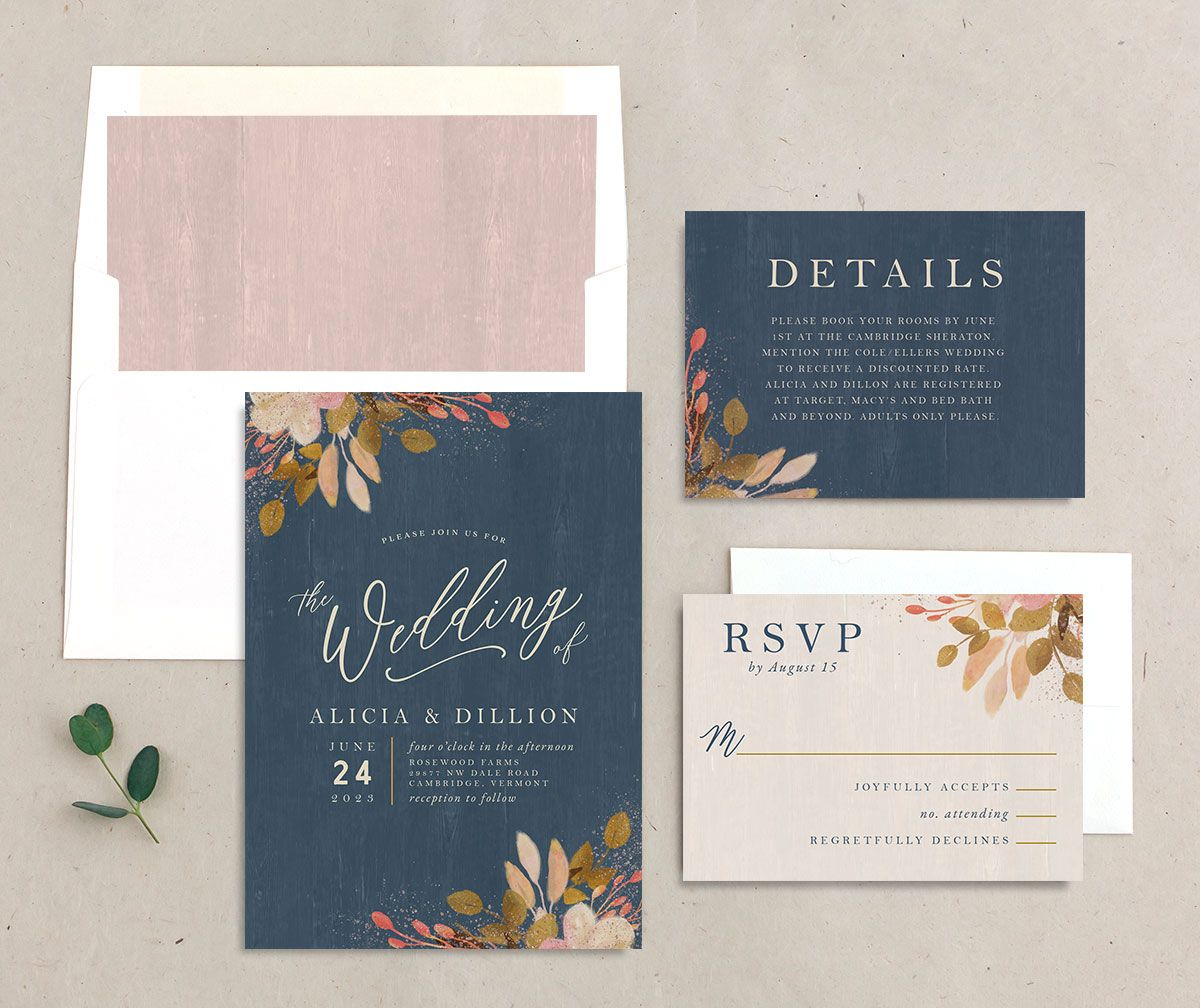 Rustic Leaves Wedding suite