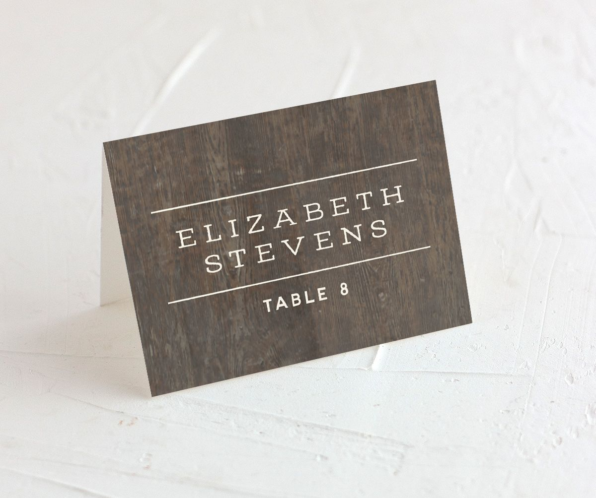 Custom State Wedding place card front