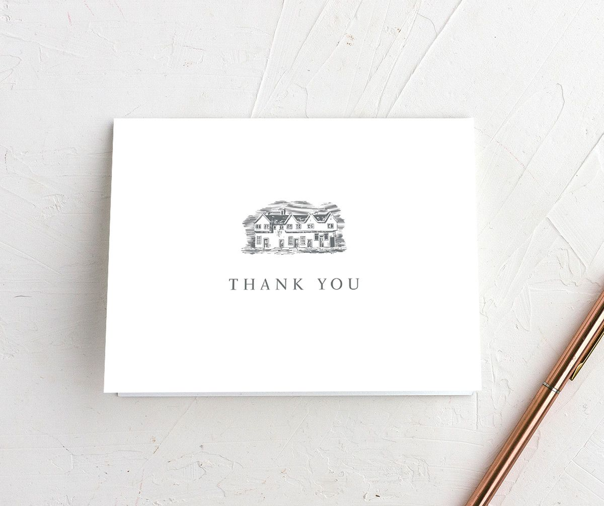 Classic Landscape Thank You card grey