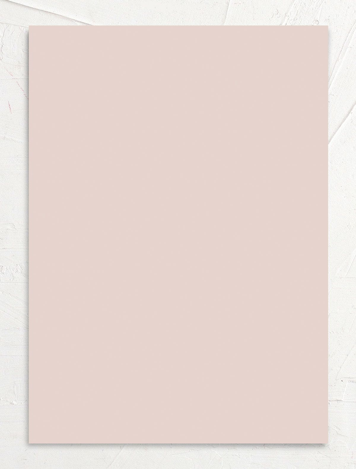 Rustic Minimal Wedding Invitation back in pink