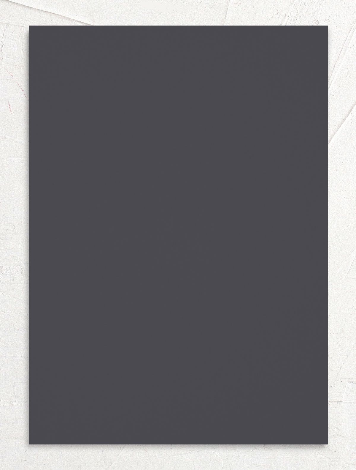 We Do Wedding Invitation back grey