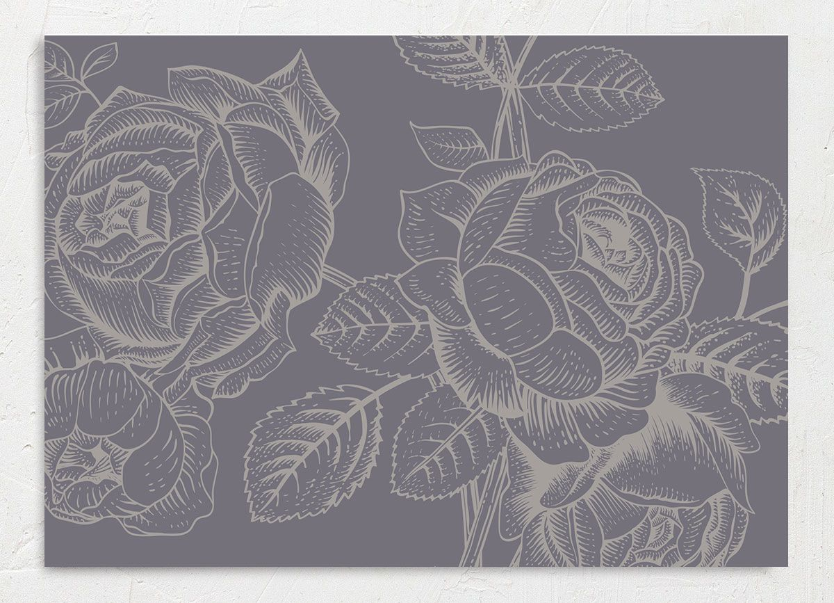 Etched Botanical Wedding Save the Date Card back