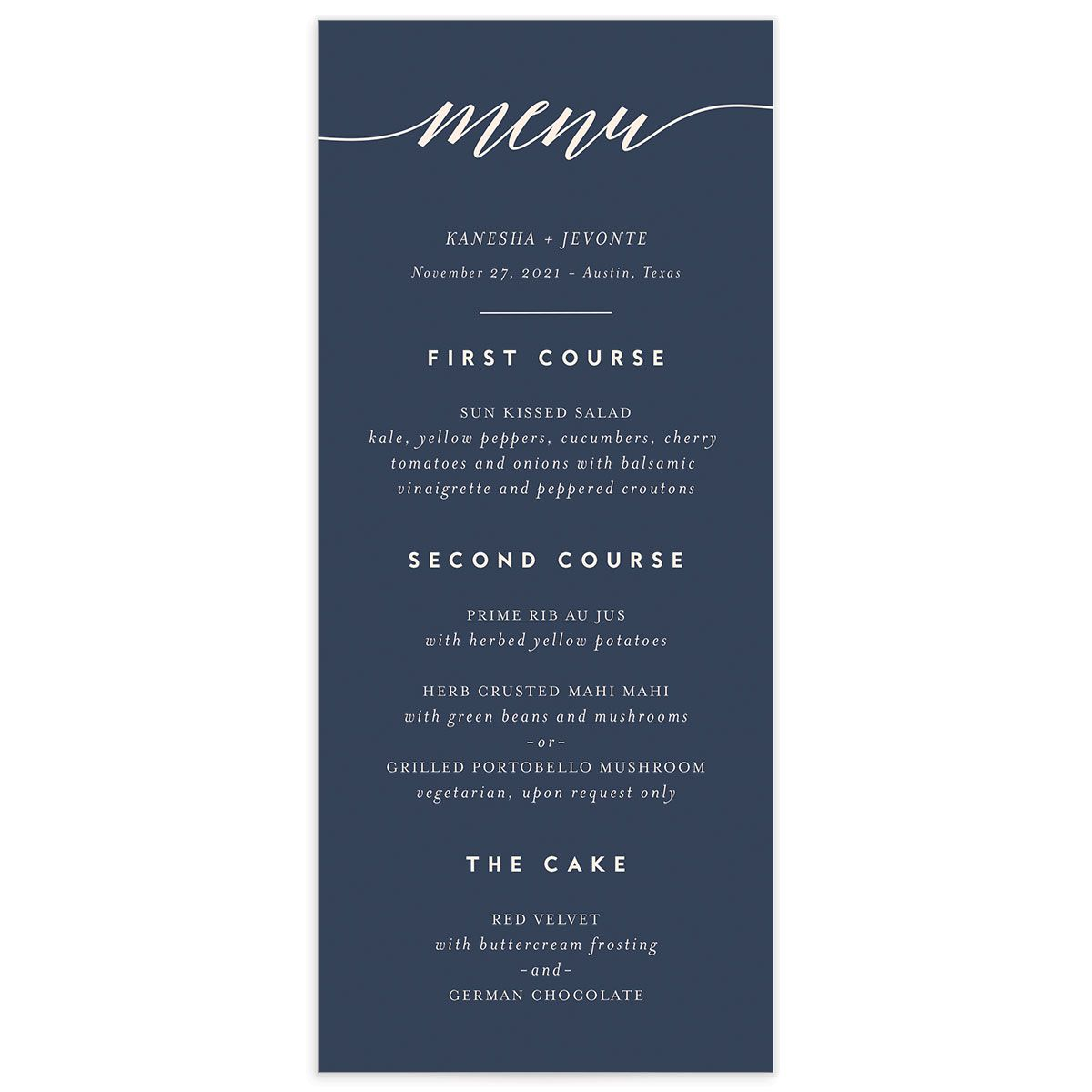 We Do Wedding Menu Card front pink