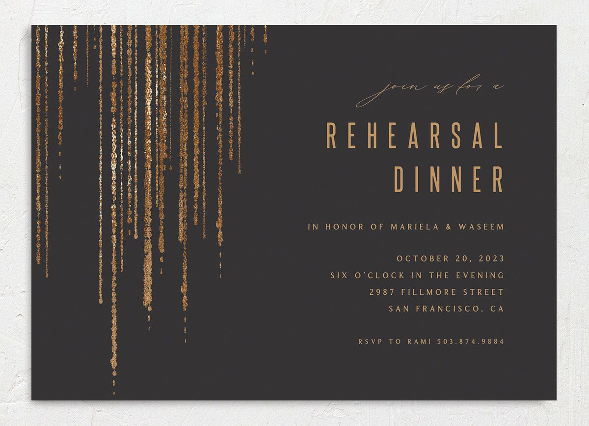 Classic Cascade Rehearsal Dinner front in black