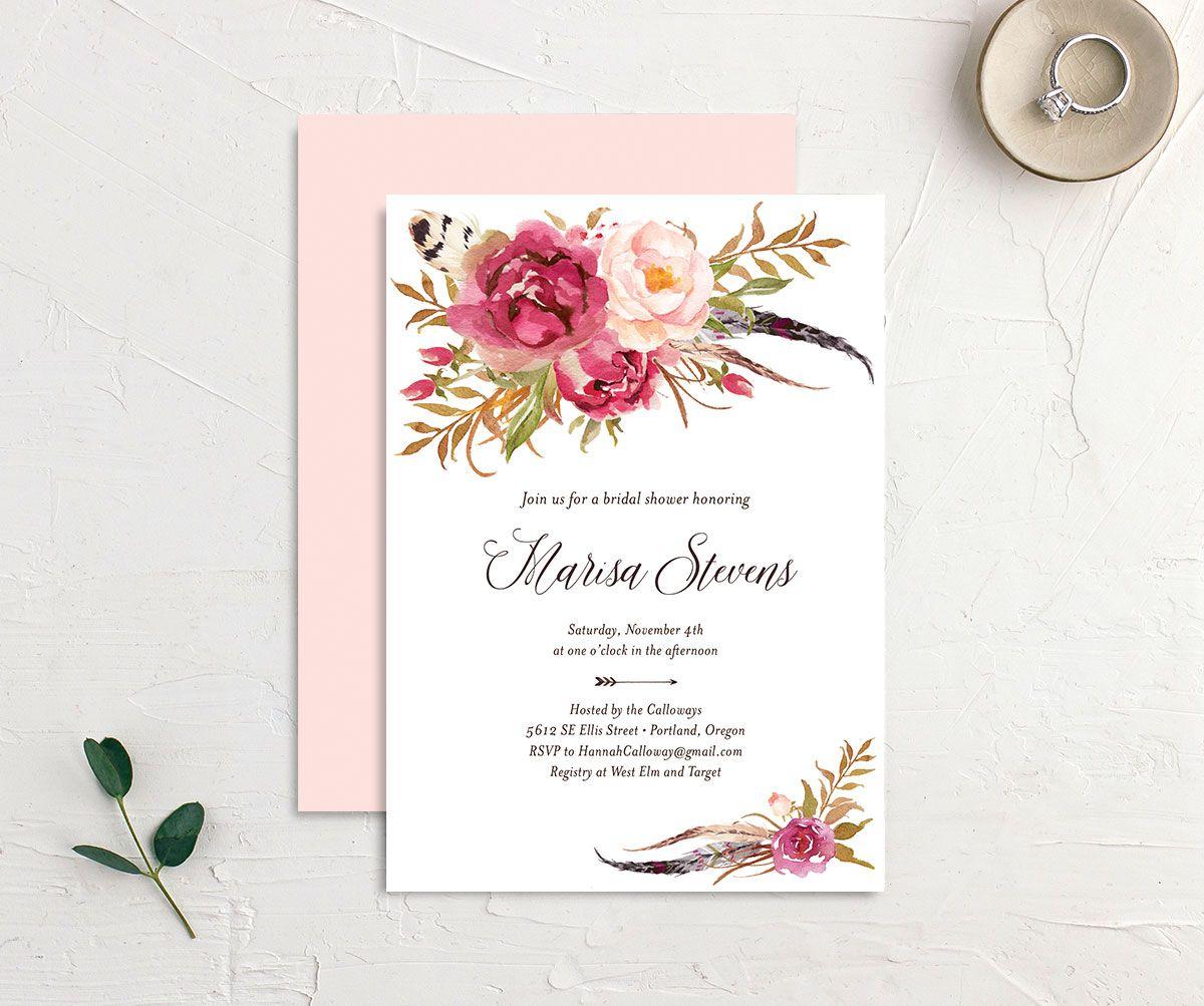 Floral Wedding Set Thank You Table Invitation Bridal Shower Menu Place Program Save the Date RSVP