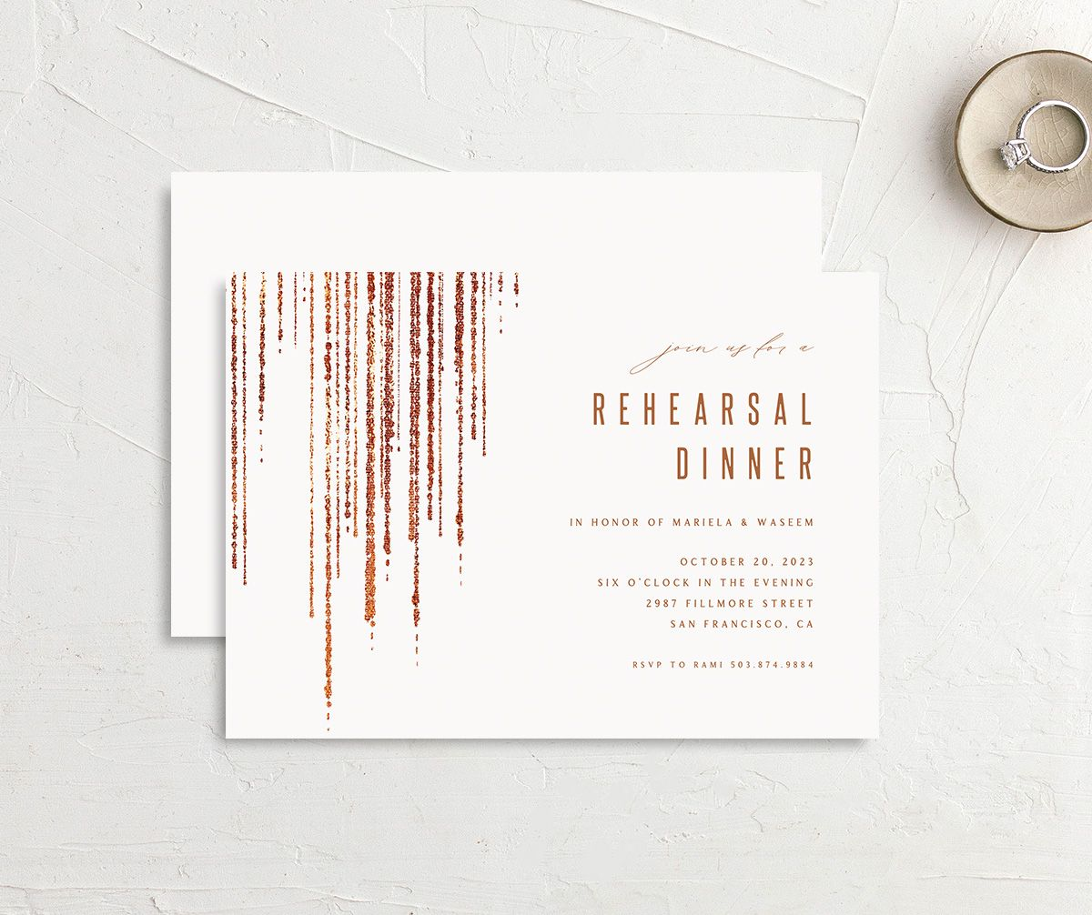 Classic Cascade Rehearsal Dinner front & back in white