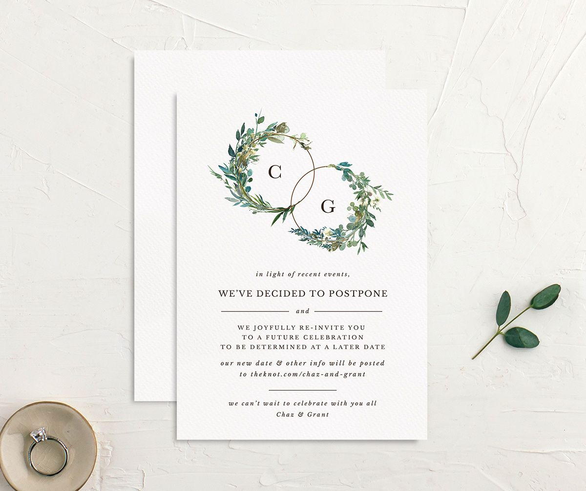 Leafy Hoops Change the Date Card front & back