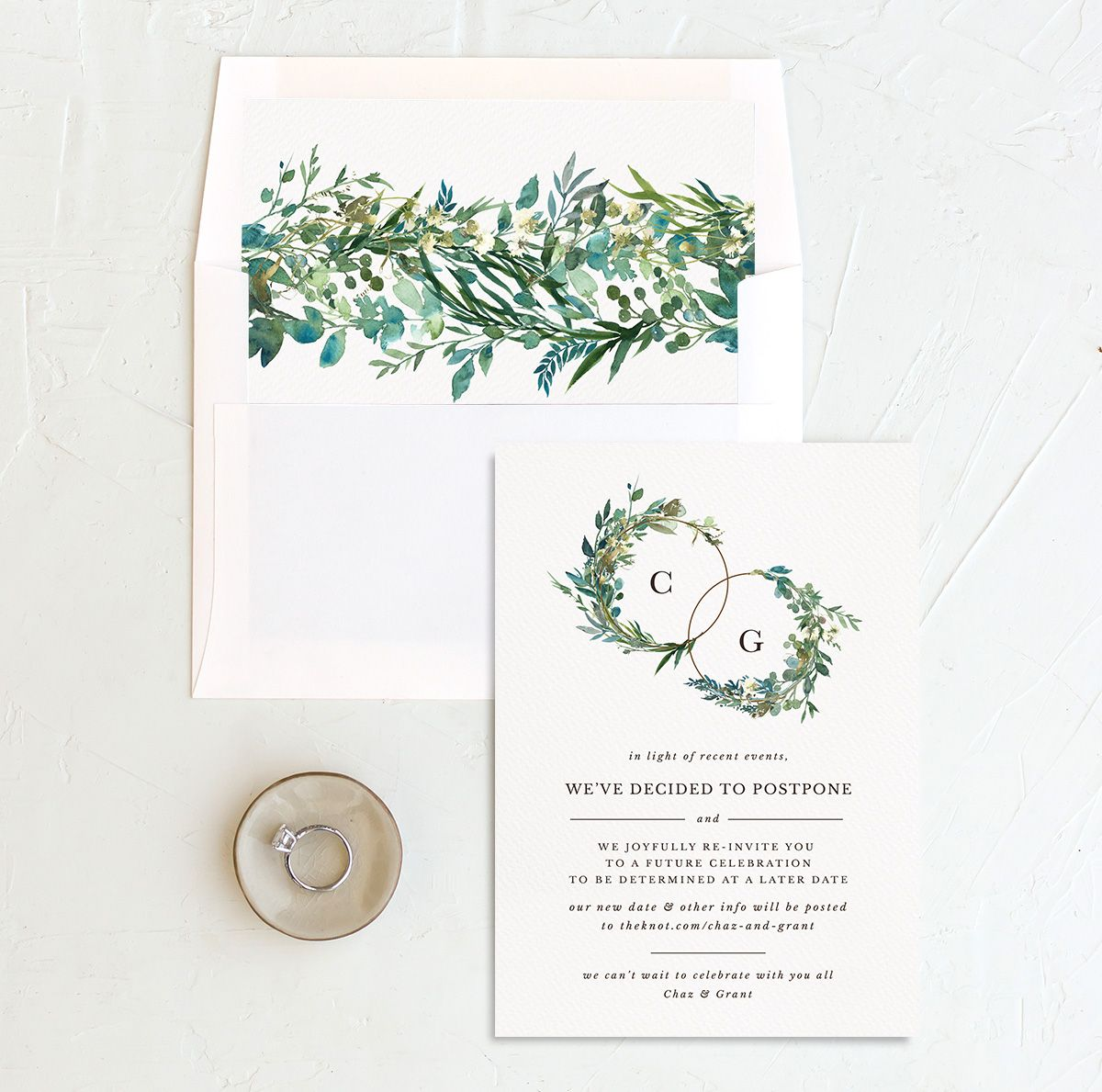 Leafy Hoops Change the Date Card with DIY liner