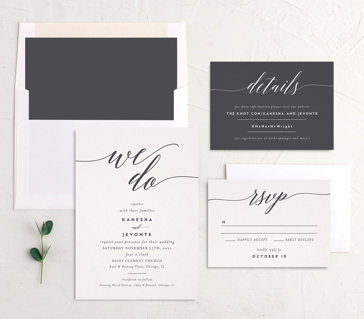 We Do Wedding Suite grey