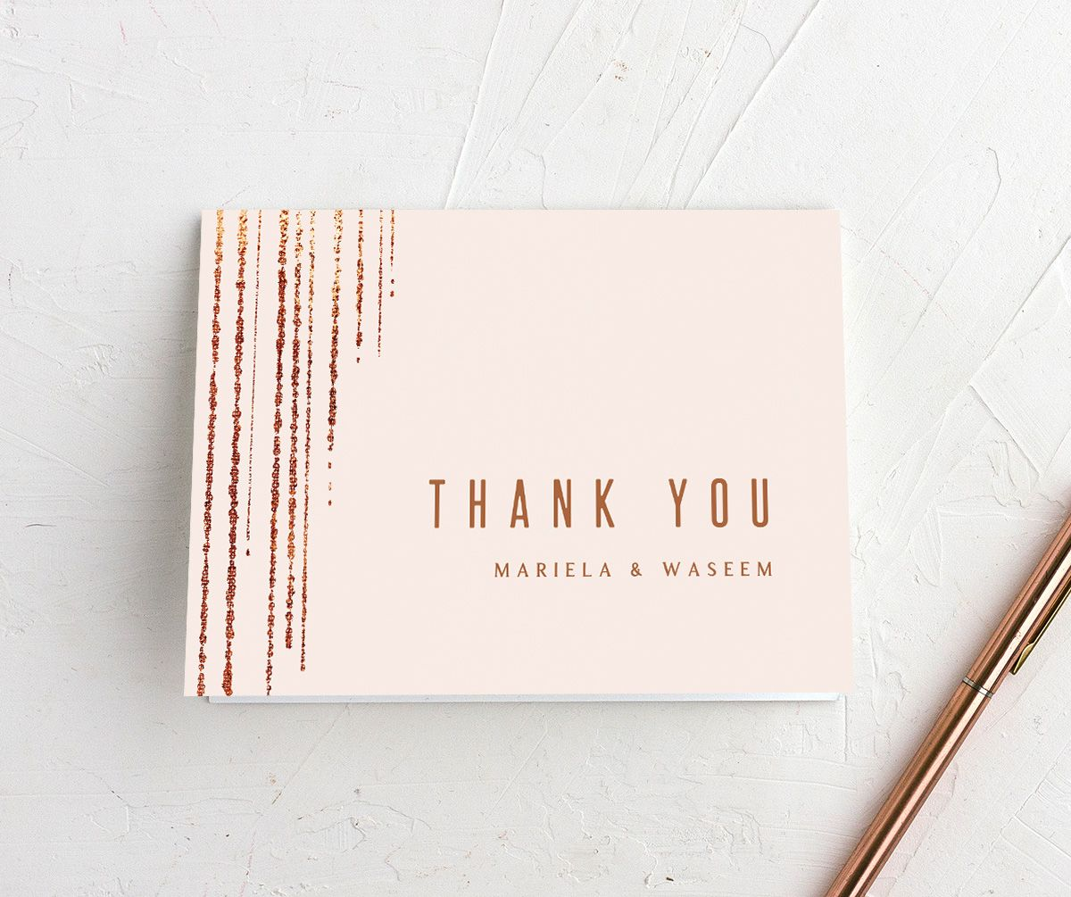 Classic Cascade Thank You Card in pink