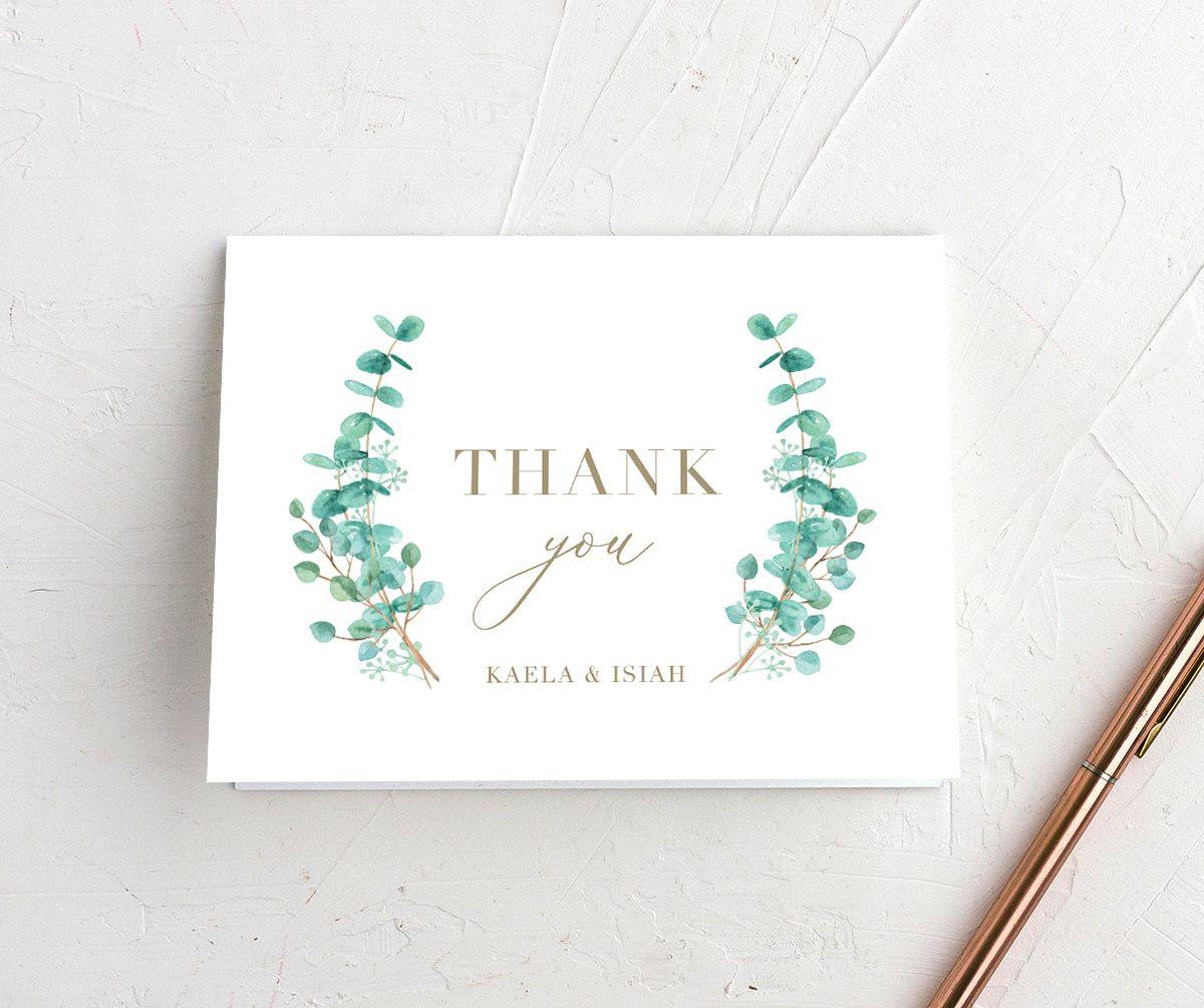 Elegant Eucalyptus Thank You Cards