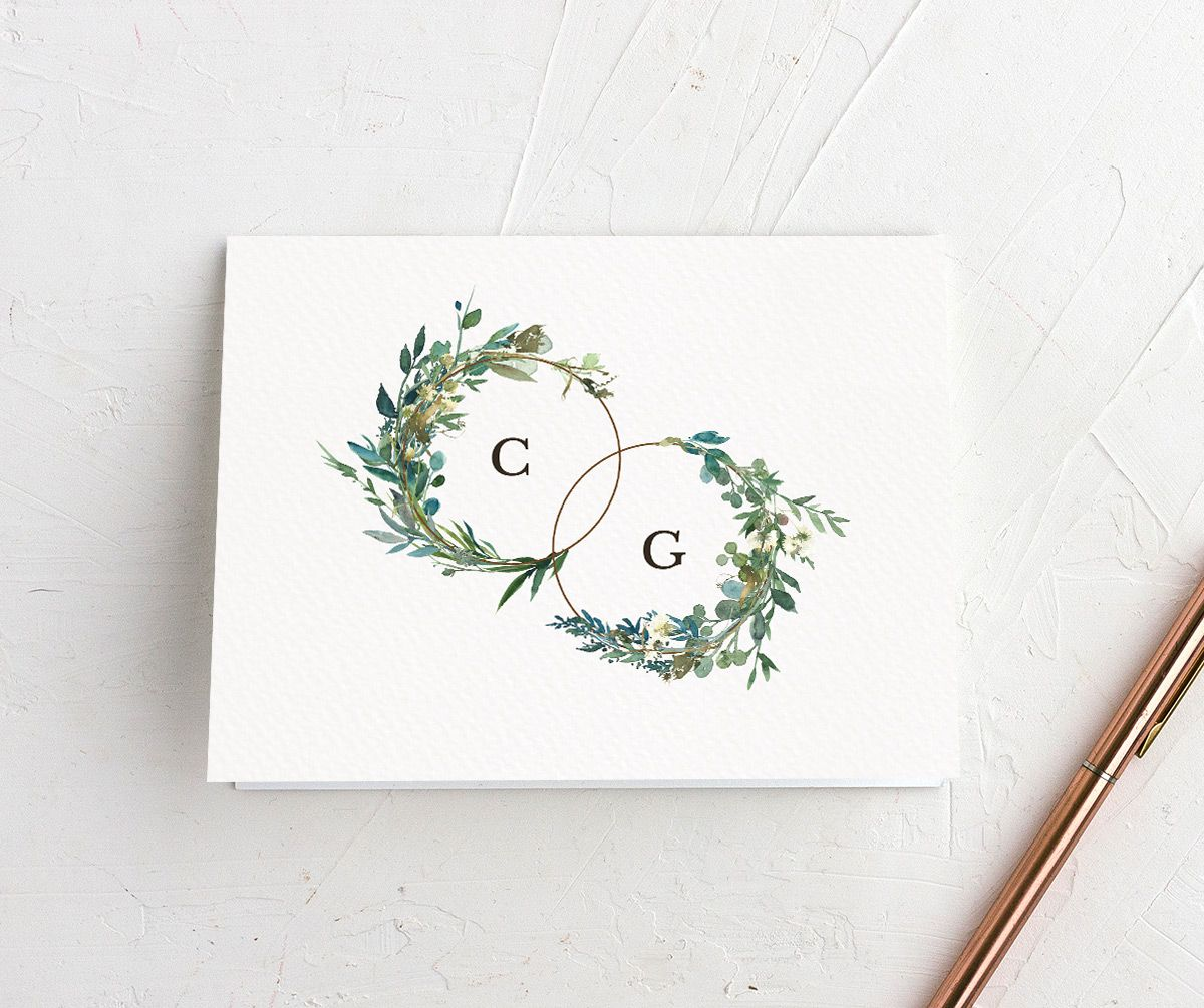 Leafy Hoops Thank You Card front