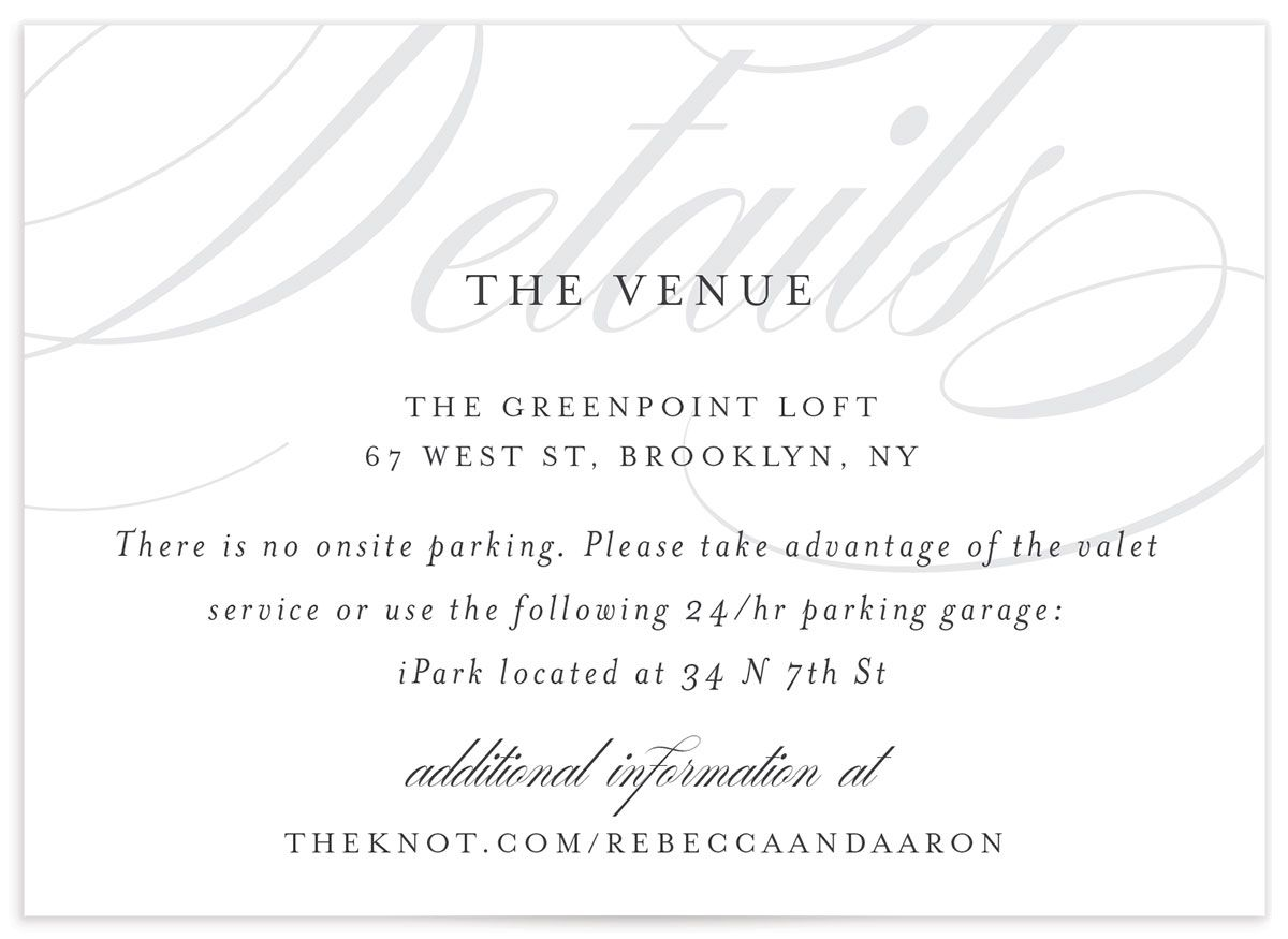Elegantly Initialed Save the Date Card front in grey
